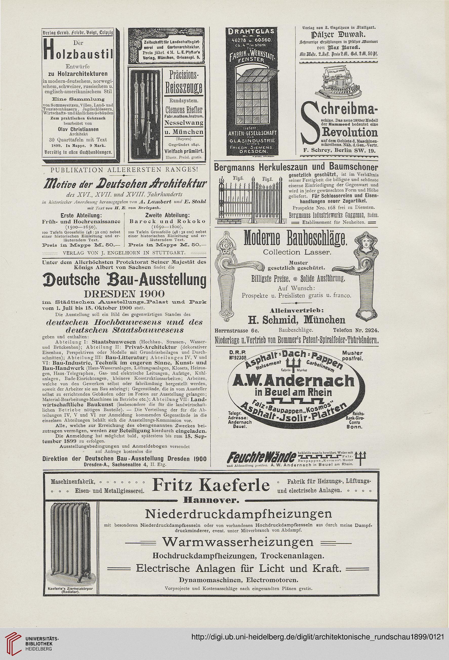 Architektonische Rundschau: Skizzenblätter aus allen Gebieten der ...