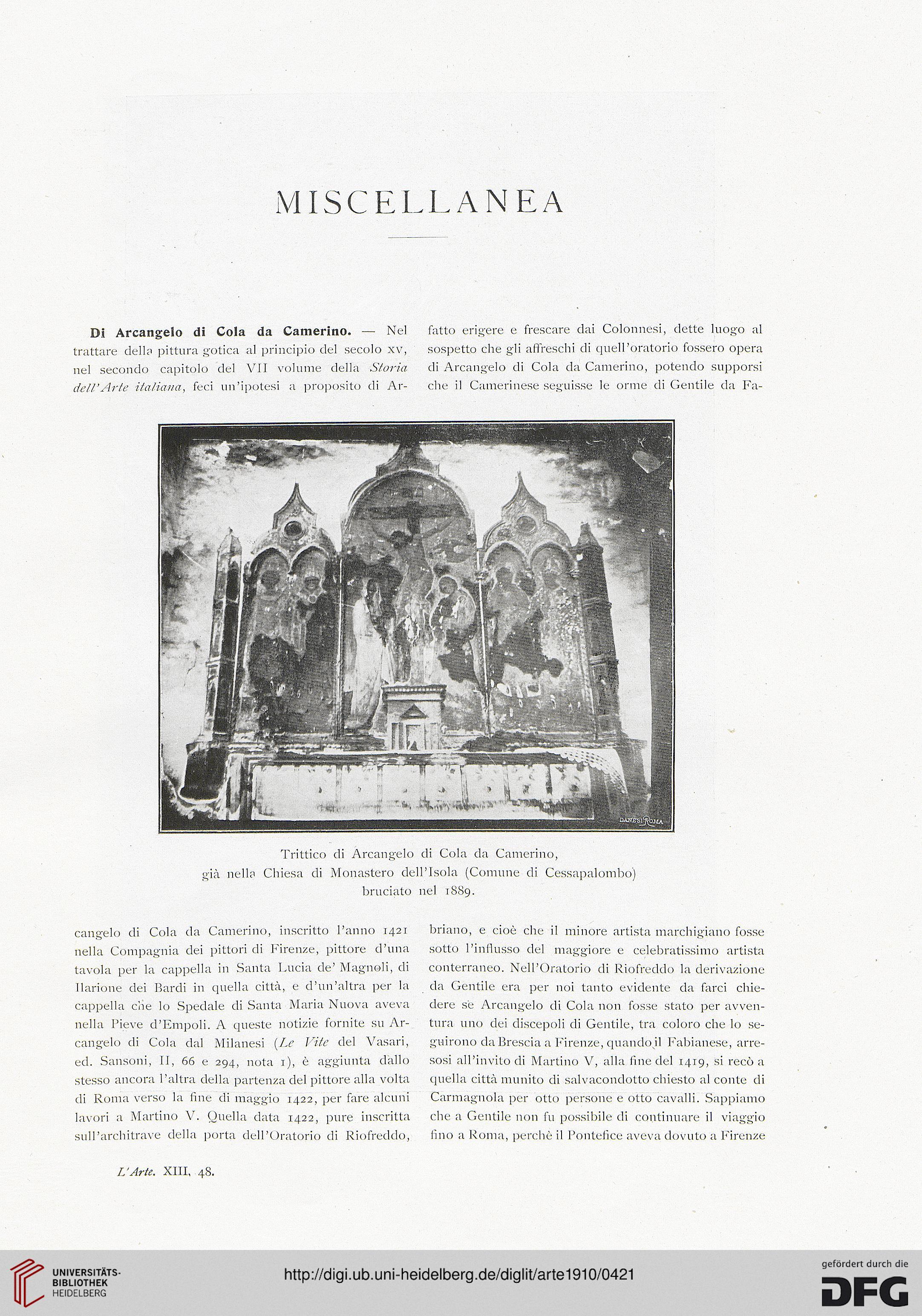 L Arte Rivista Di Storia Dellarte Medievale E Moderna 131910 Frescare Download Pdf Jpeg Drucken