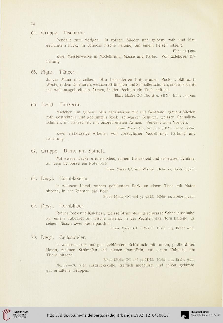 Rudolf Bangel <Frankfurt, Main> [Hrsg.]: Verzeichnis der Porzellan ...