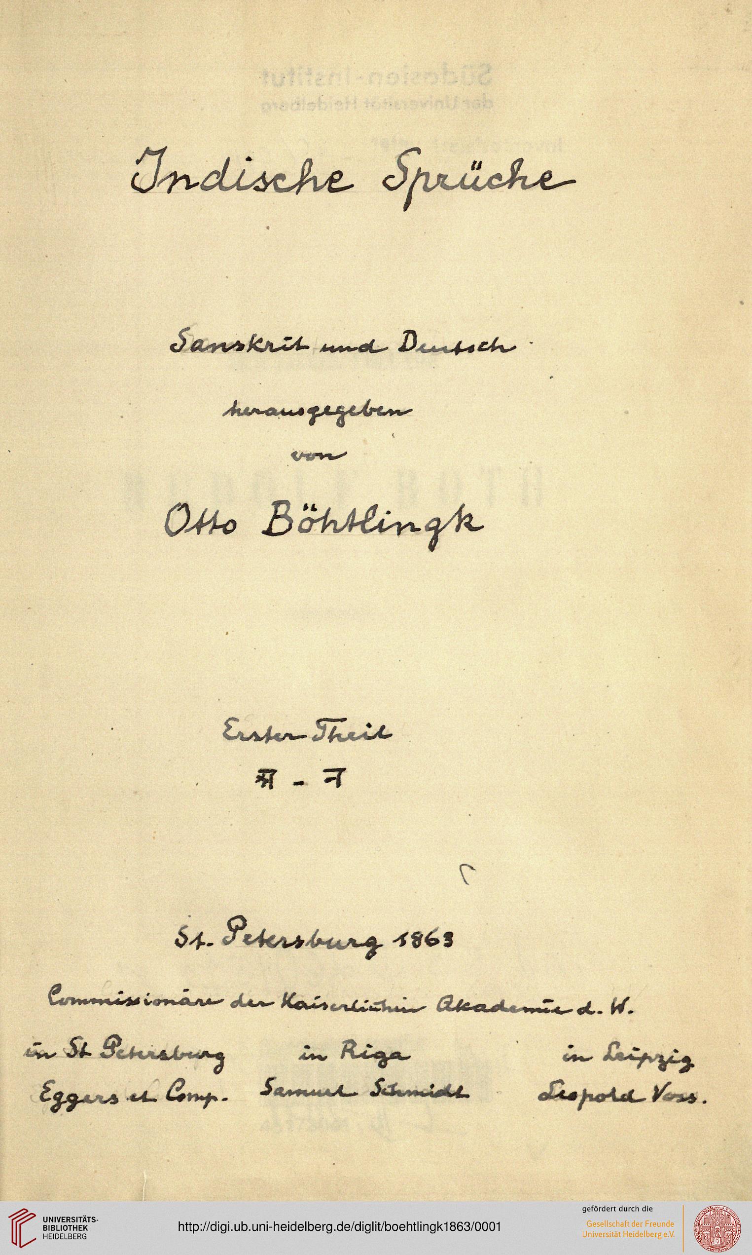 indische sprüche Böhtlingk, Otto von [Hrsg.]: Indische Sprüche, Sanskrit und  indische sprüche
