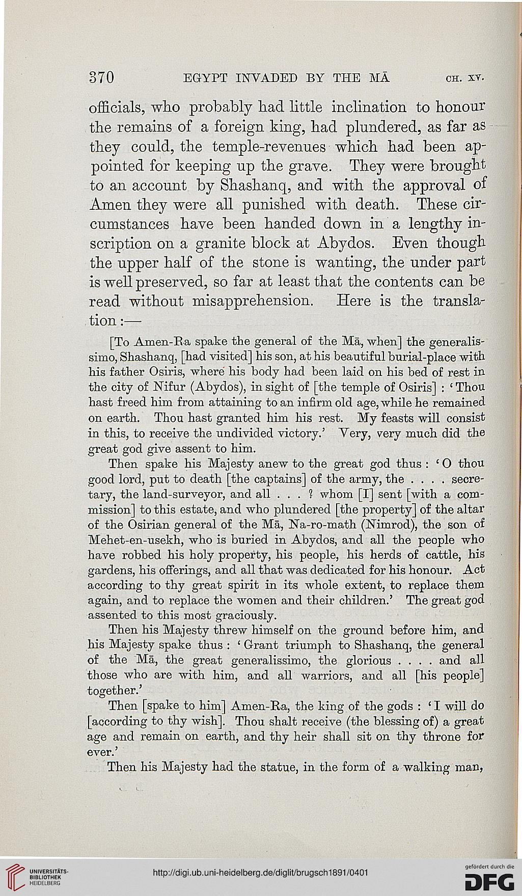 Brugsch, Heinrich: Egypt under the pharaohs: a history