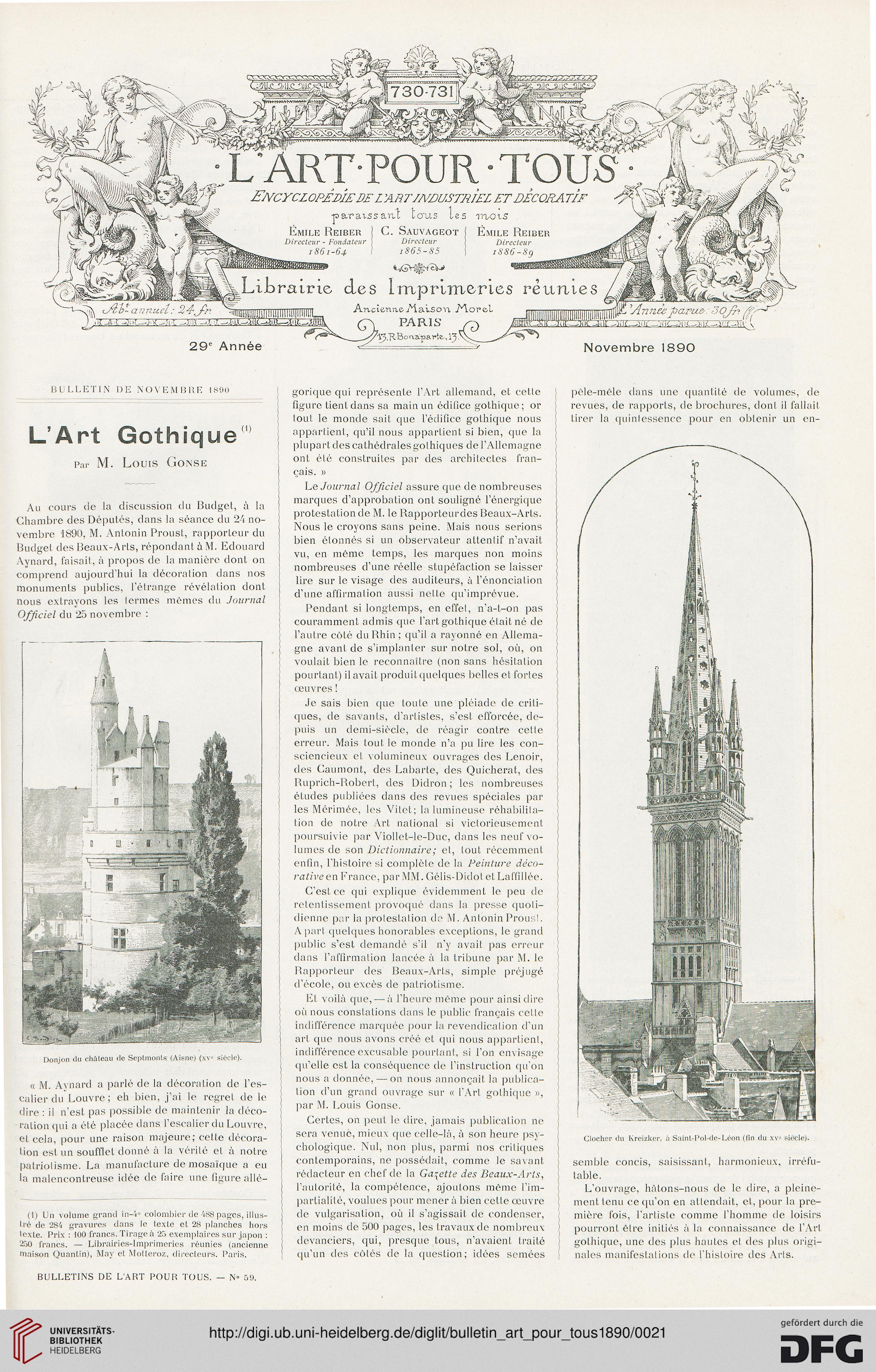Bulletin de l\' art pour tous (1890)