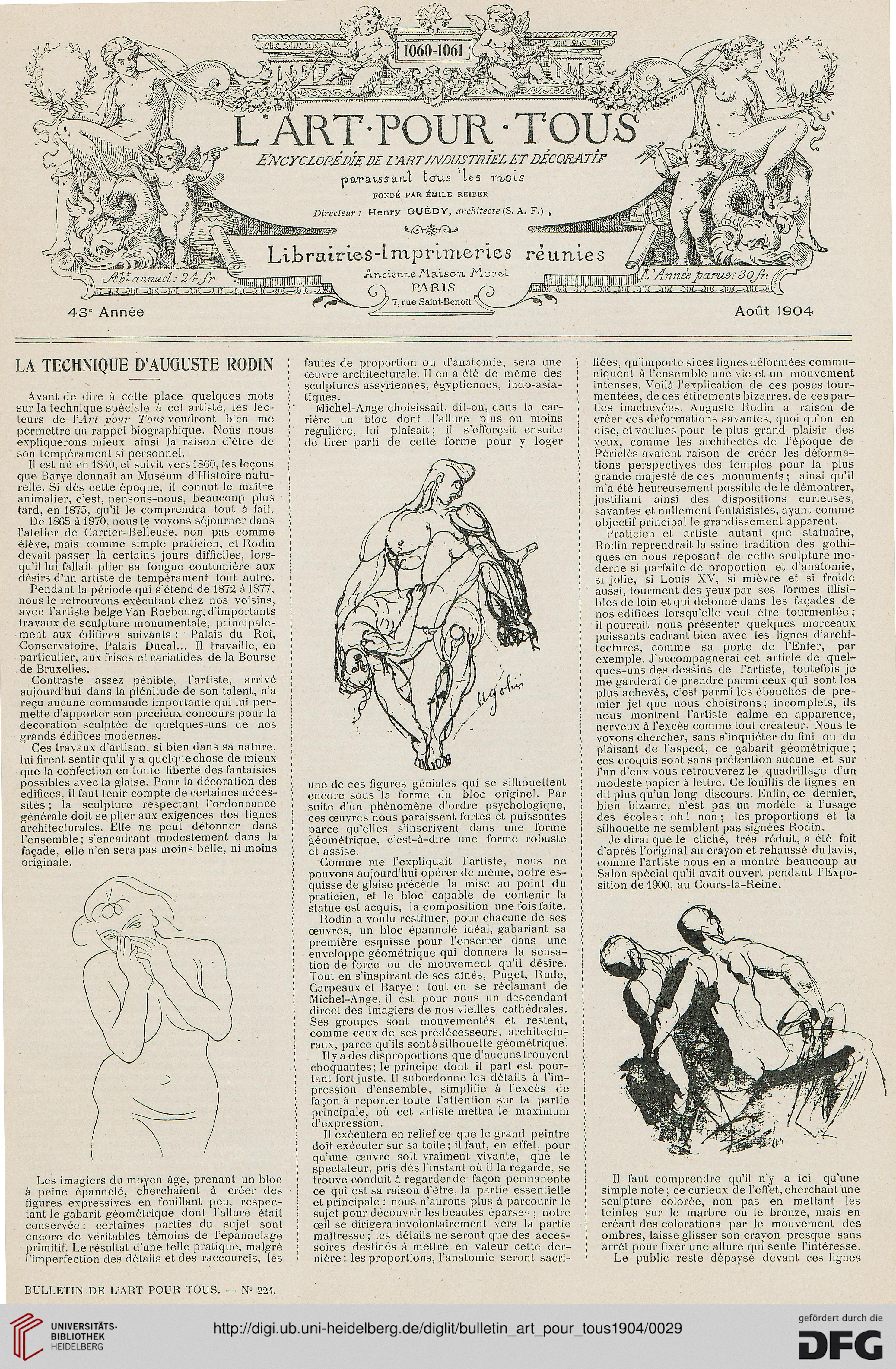 Bulletin de l\' art pour tous (1904)