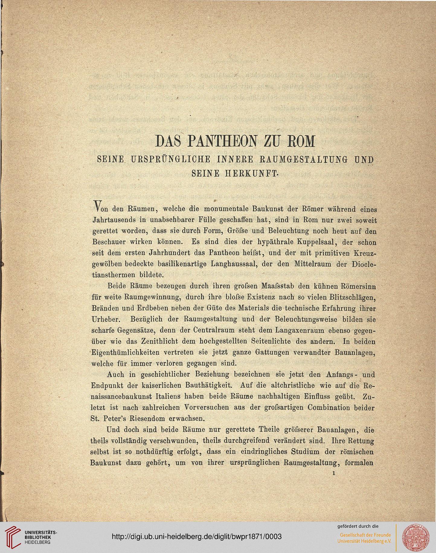Raumgestaltung studium  Adler, Friedrich: Programm zum Winckelmannsfeste der ...