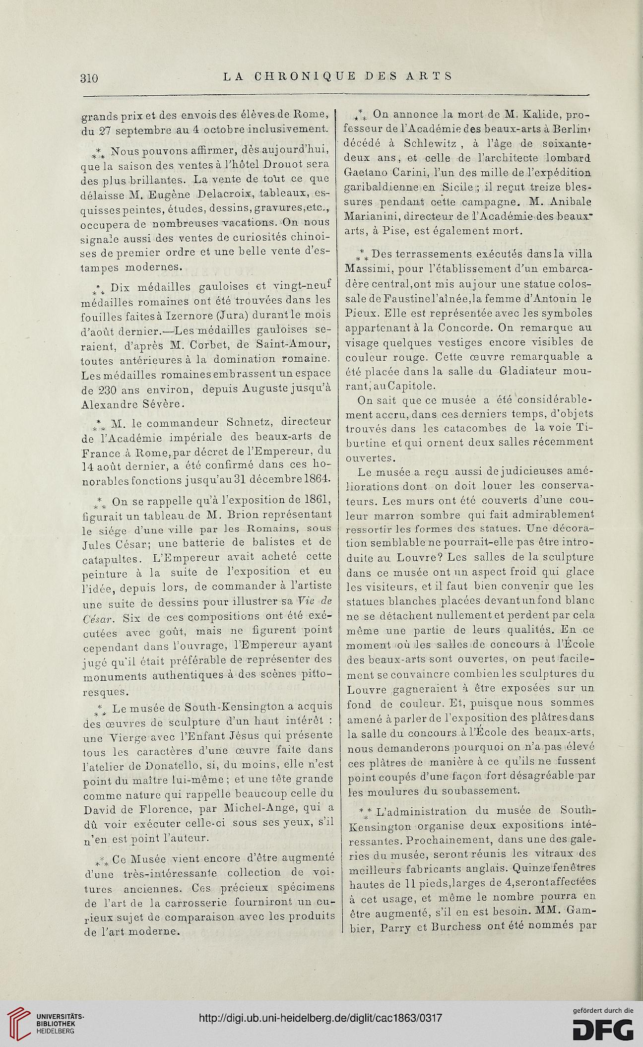 La chronique des arts et de la curiosité (1863)