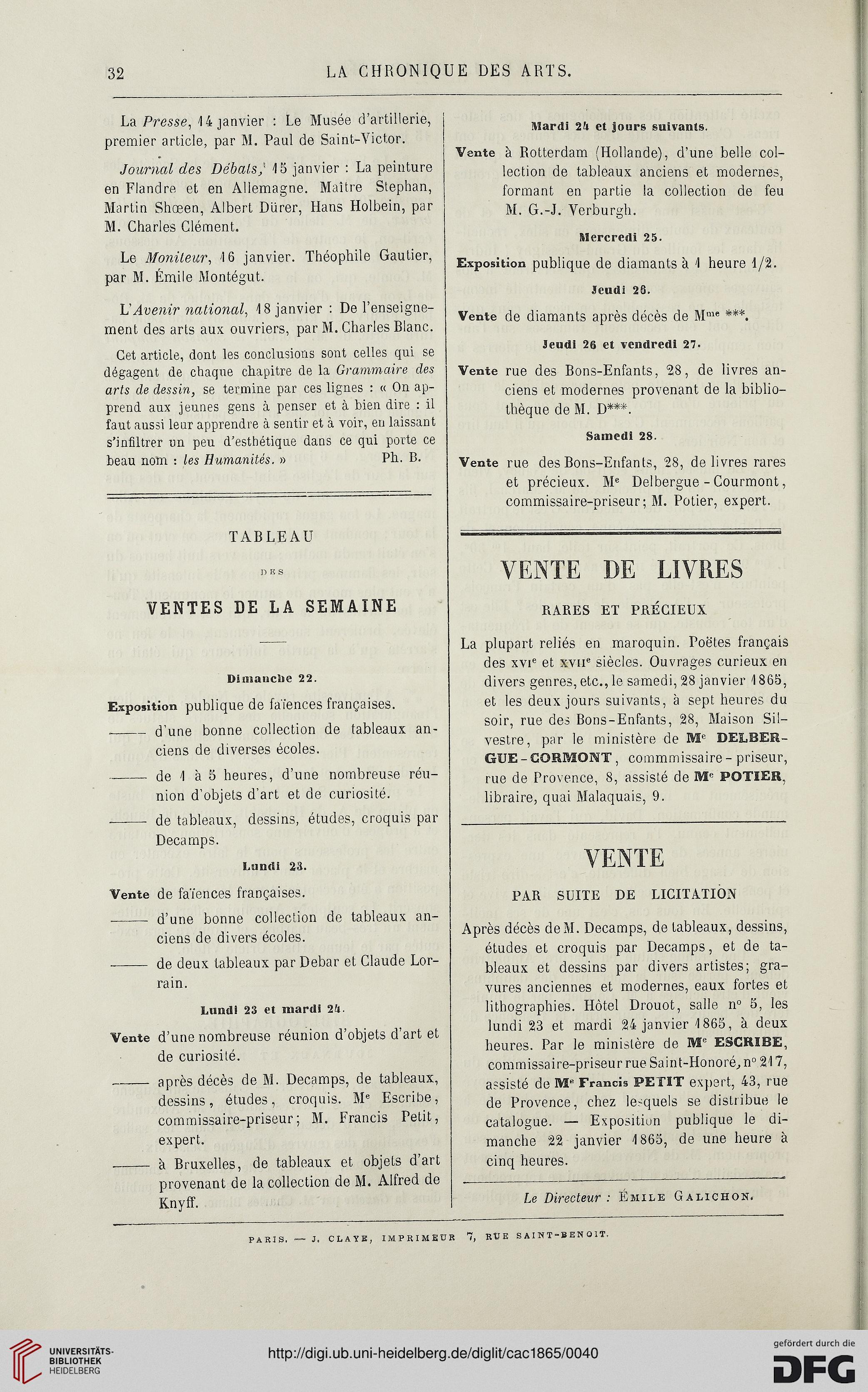 La chronique des arts et de la curiosité (1865)
