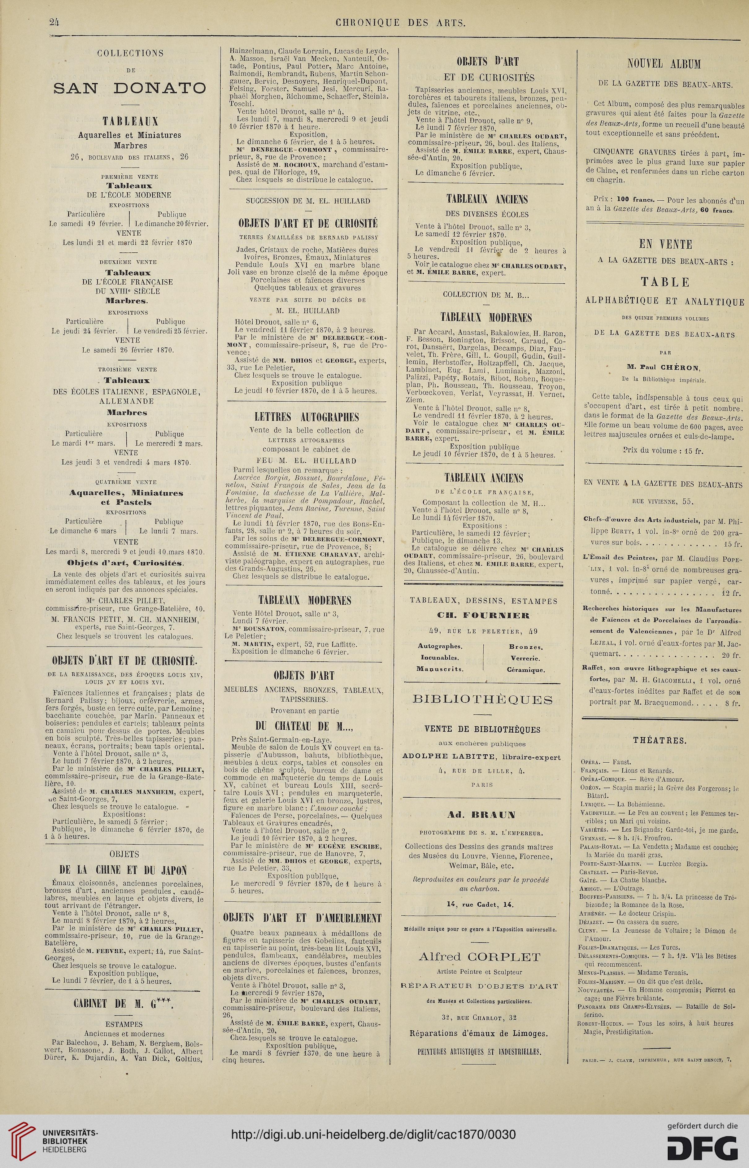 La Chronique Des Arts Et De Curiosite 1870