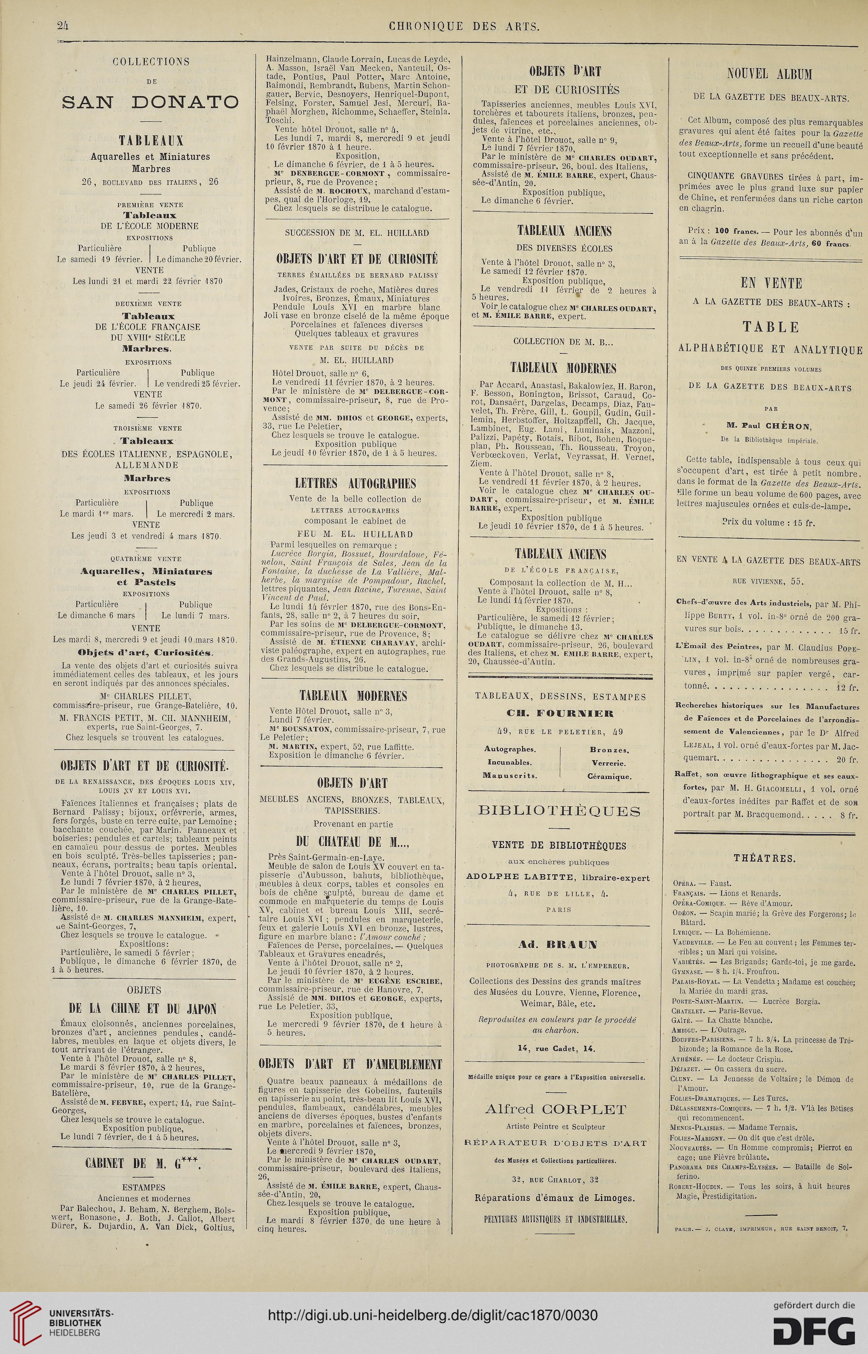 La chronique des arts et de la curiosité (1870)
