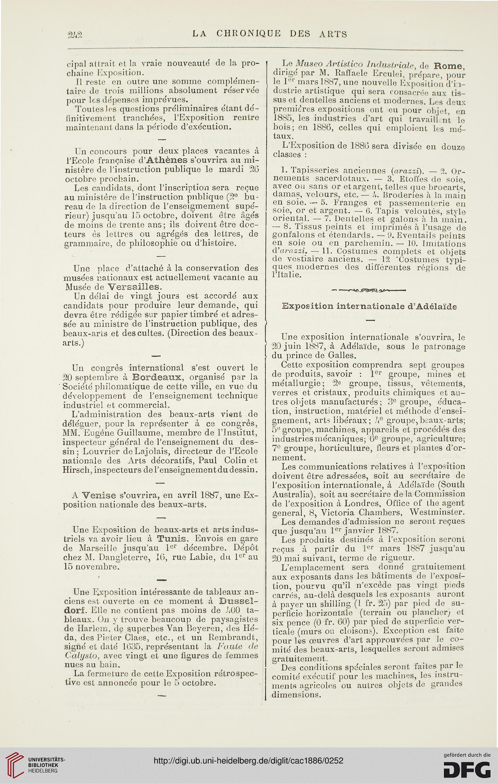 La chronique des arts et de la curiosité (1886)