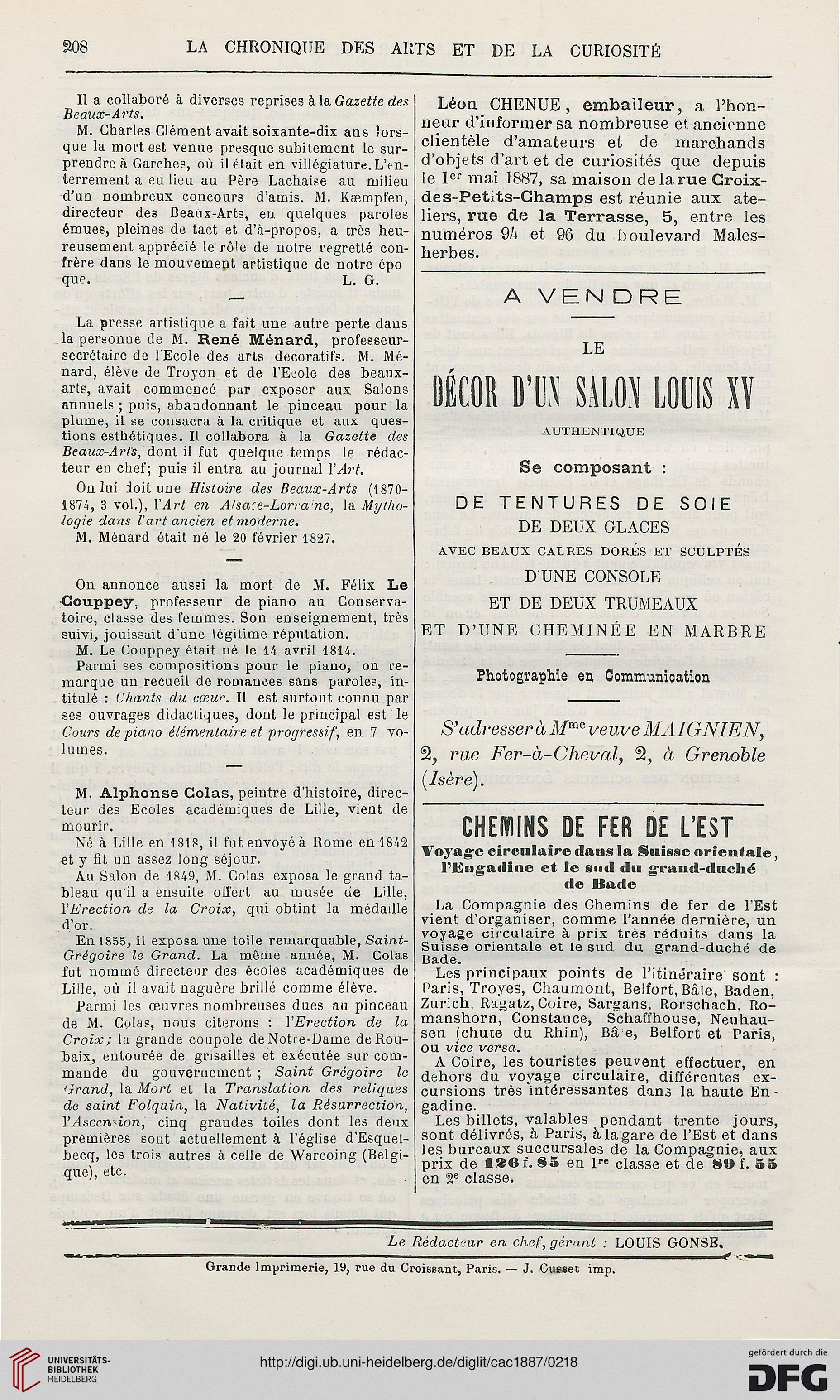 La chronique des arts et de la curiosité (1887)