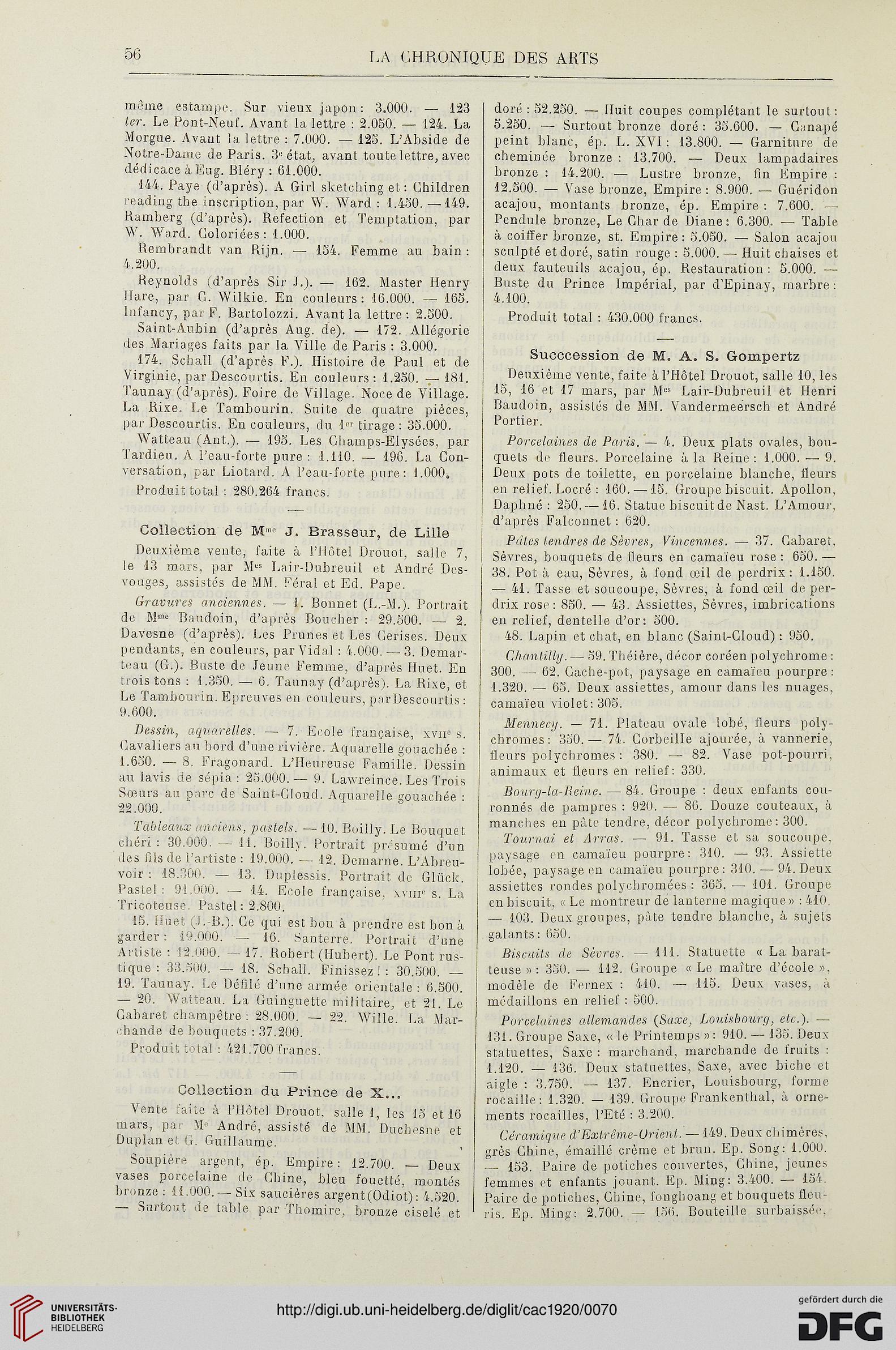 La chronique des arts et de la curiosité (1920)
