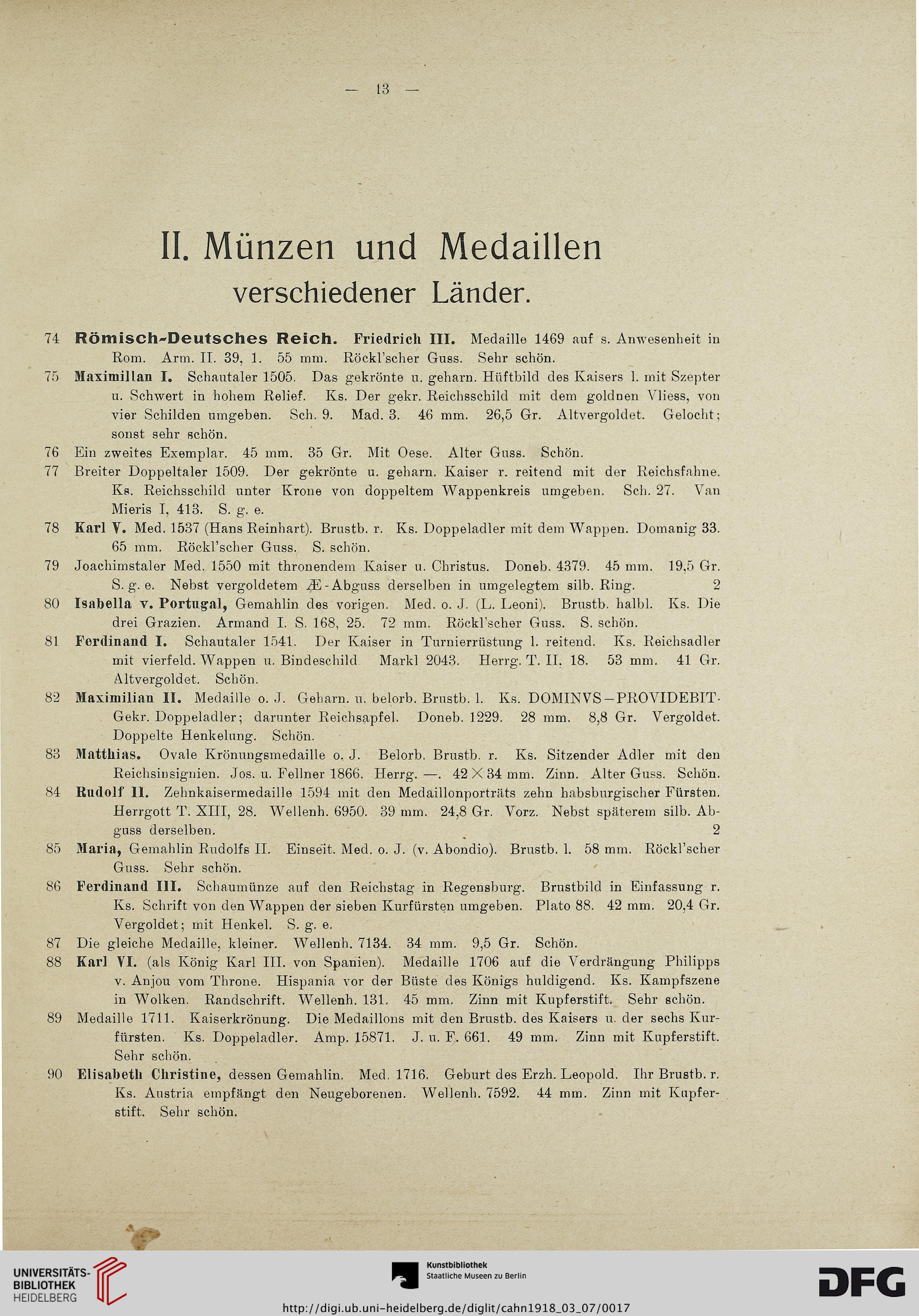 Adolph E Cahn Frankfurt Main Hrsg Sammlung Von