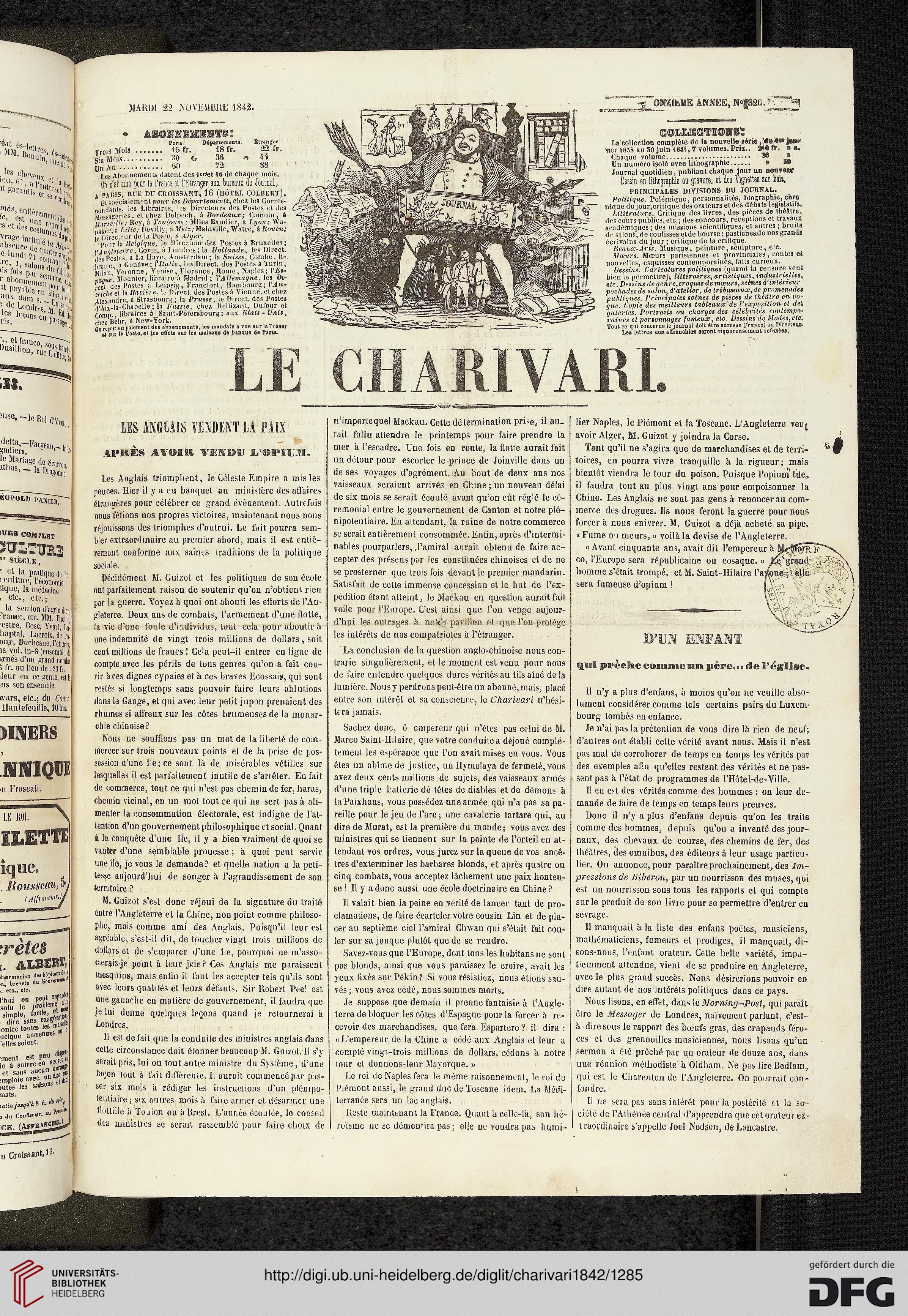 Le Charivari 11 1842