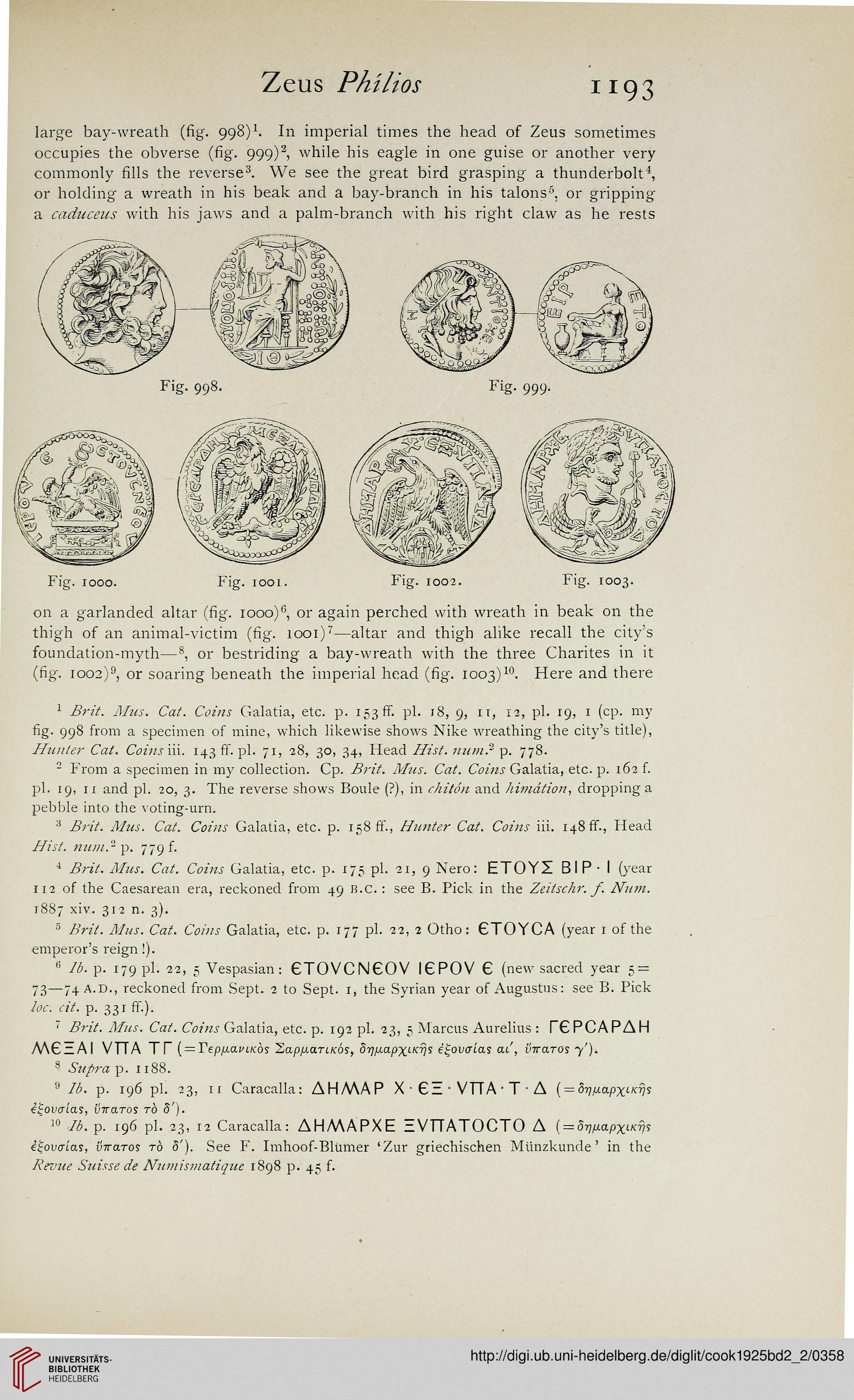 Cook, Arthur B : Zeus: a study in ancient religion (Band 2,2): Zeus