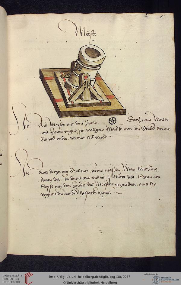 manuel d'artillerie 1485 016r