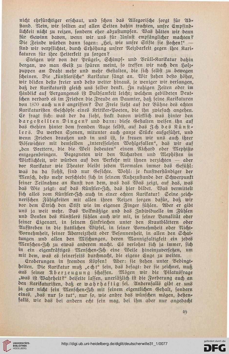 Deutscher Wille: des Kunstwarts (31,1.1917)