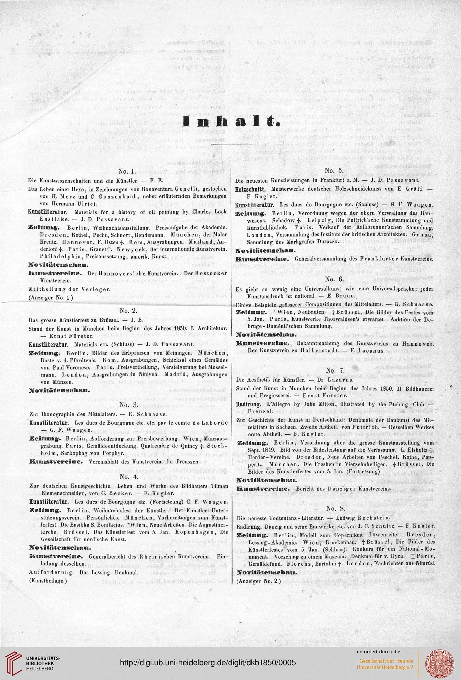 Eggers, Friedrich [Hrsg ]: Deutsches Kunstblatt <Stuttgart