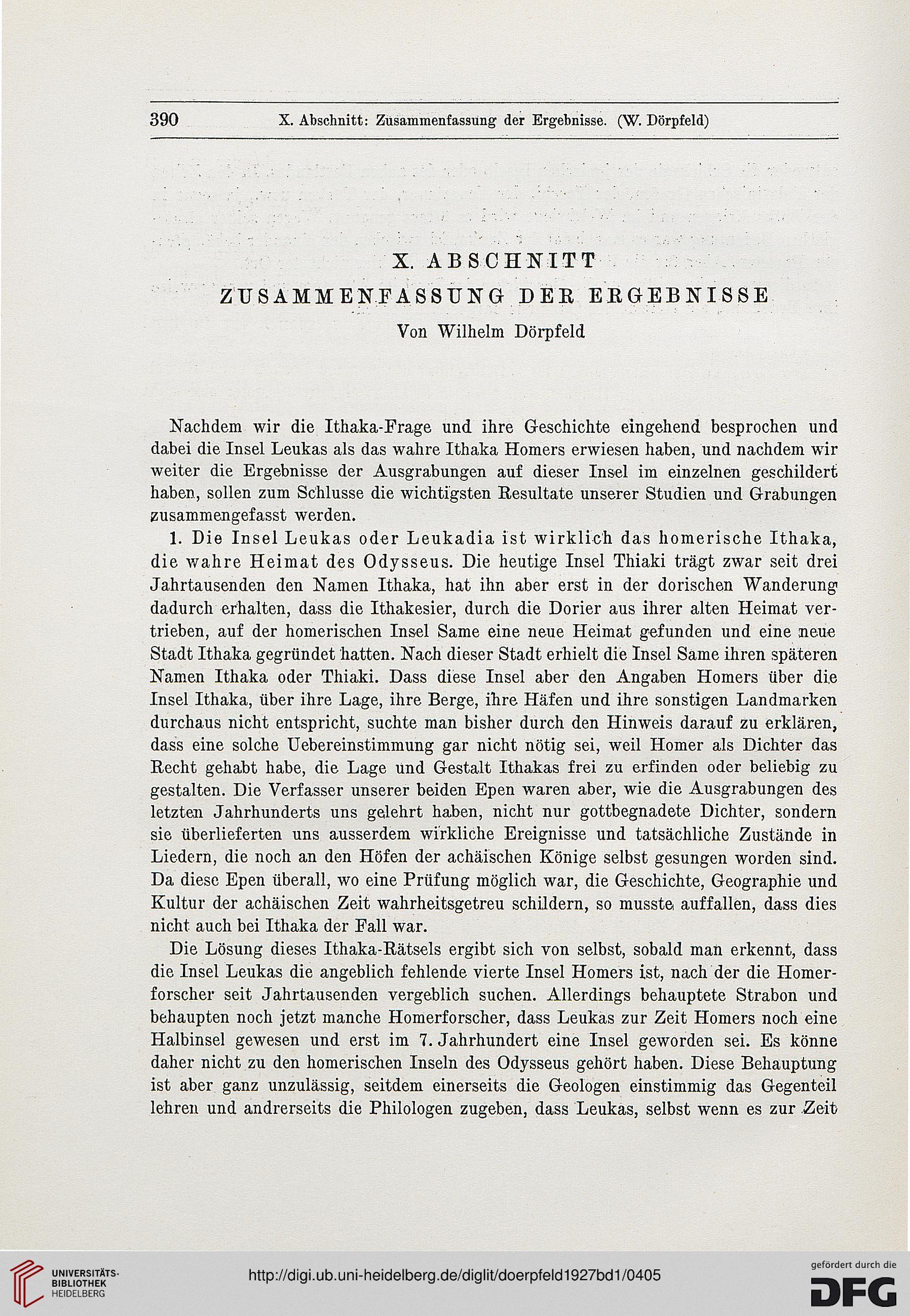 Dörpfeld Wilhelm Goessler Peter Hrsg Alt Ithaka Ein Beitrag