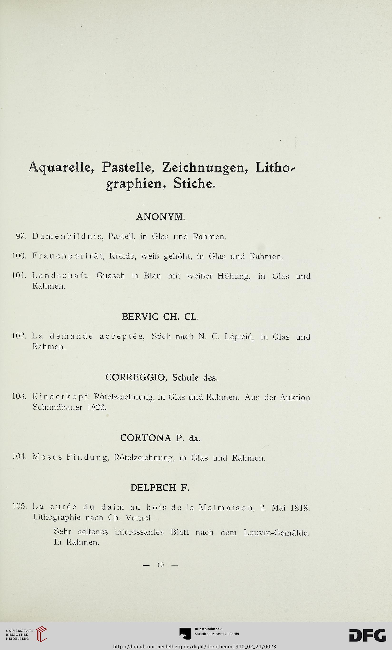 Dorotheum <Wien [Hrsg.]: Katalog der Kunst-Sammlungen aus dem ...