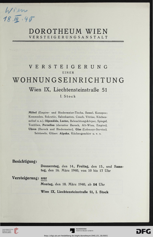 Dorotheum Wien Hrsg Versteigerung Einer Wohnungseinrichtung