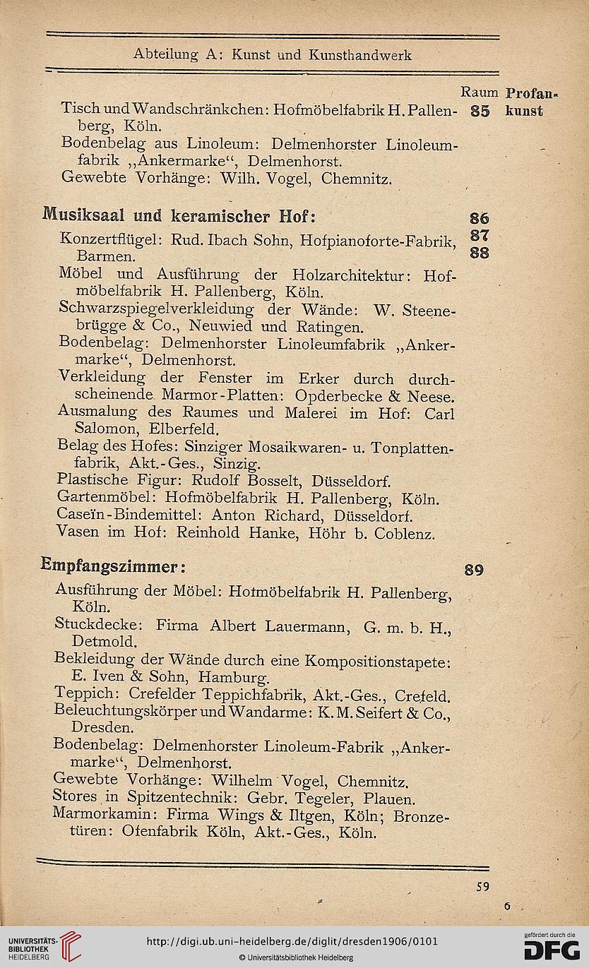 Deutsche Kunstgewerbe-Ausstellung <3, 1906, Dresden> [Hrsg ...