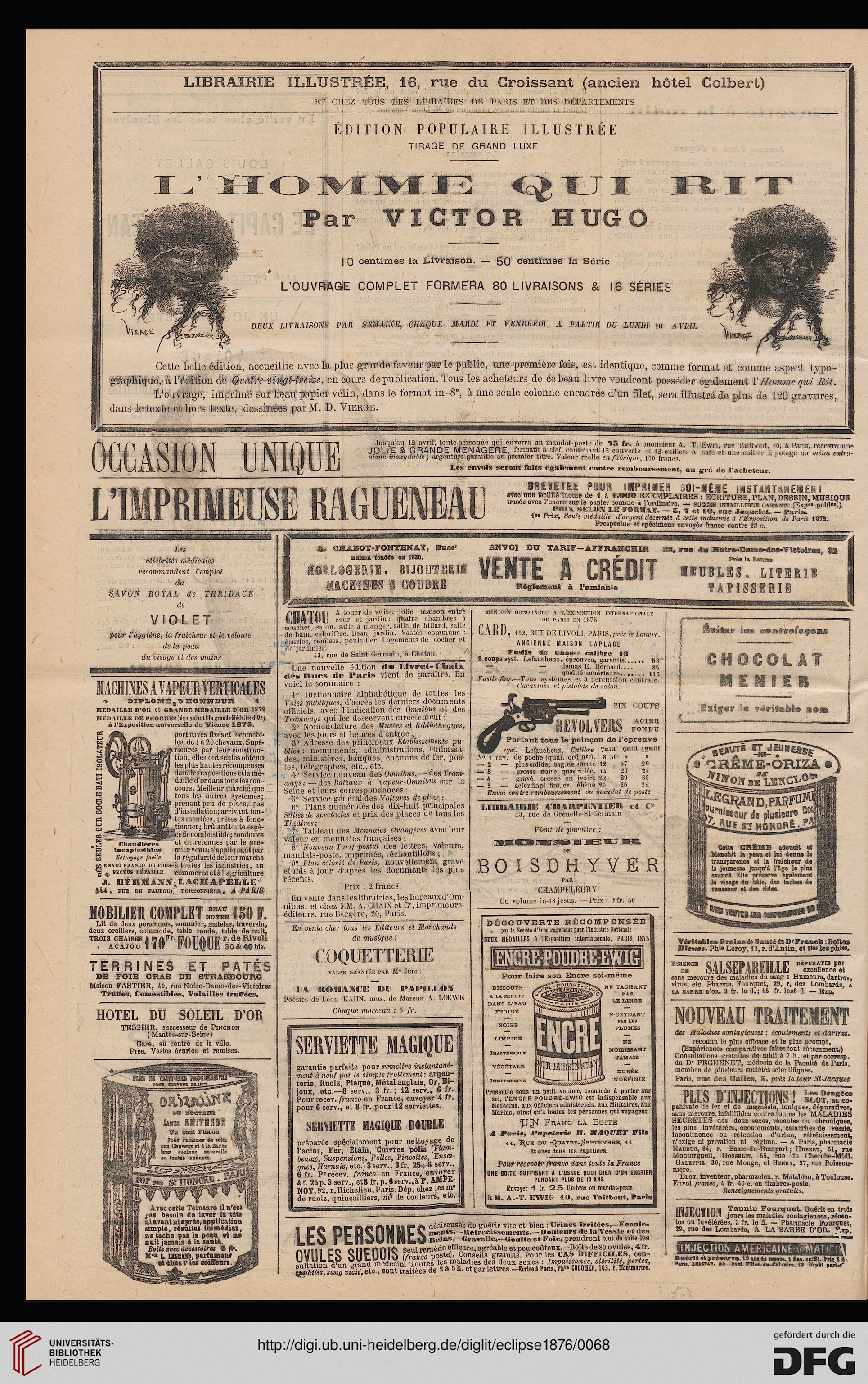 L\' Eclipse: journal hebdomadaire politique, satirique et ...
