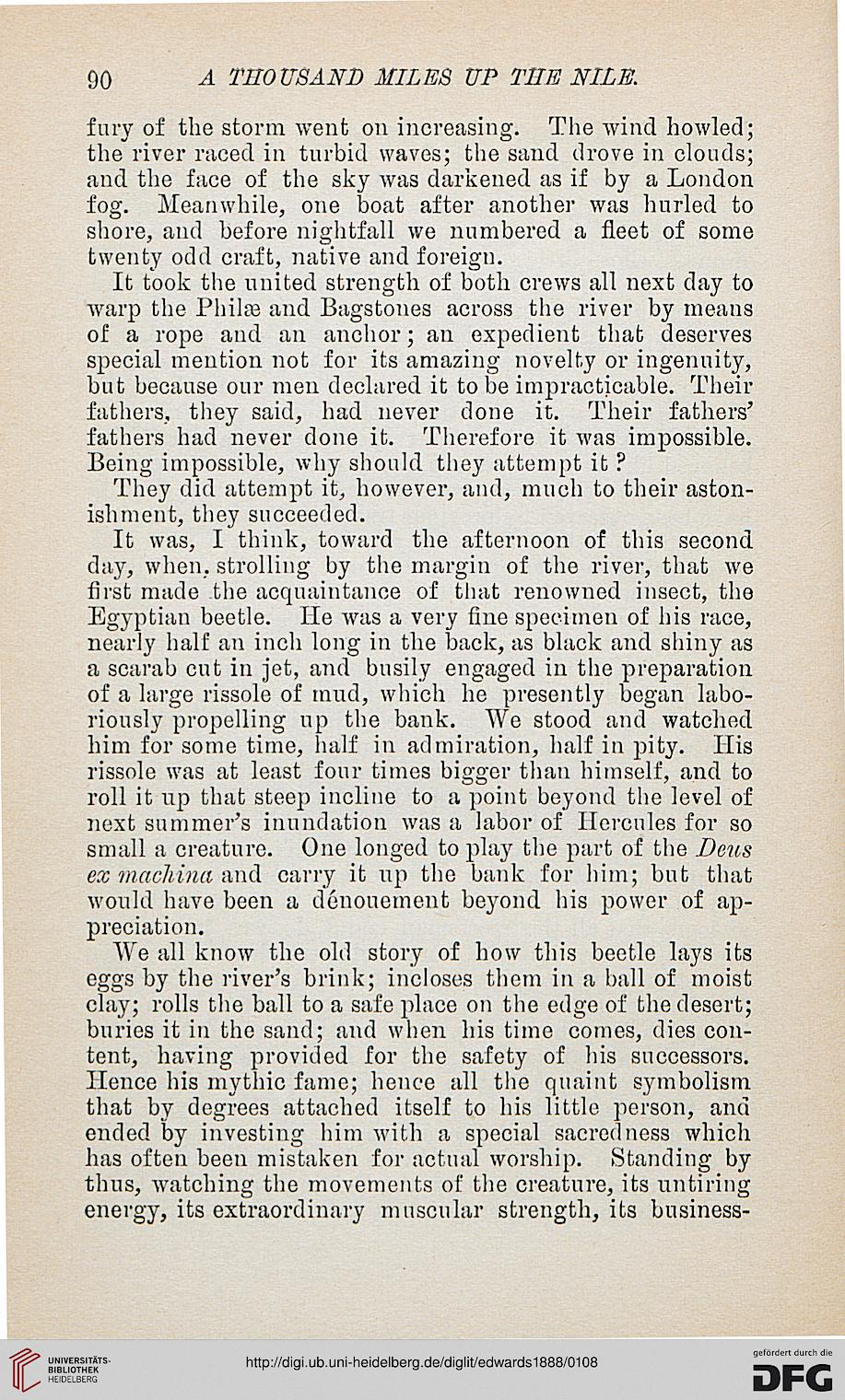 Edwards, Amelia B : A thousand miles up the Nile (New York, [1888])