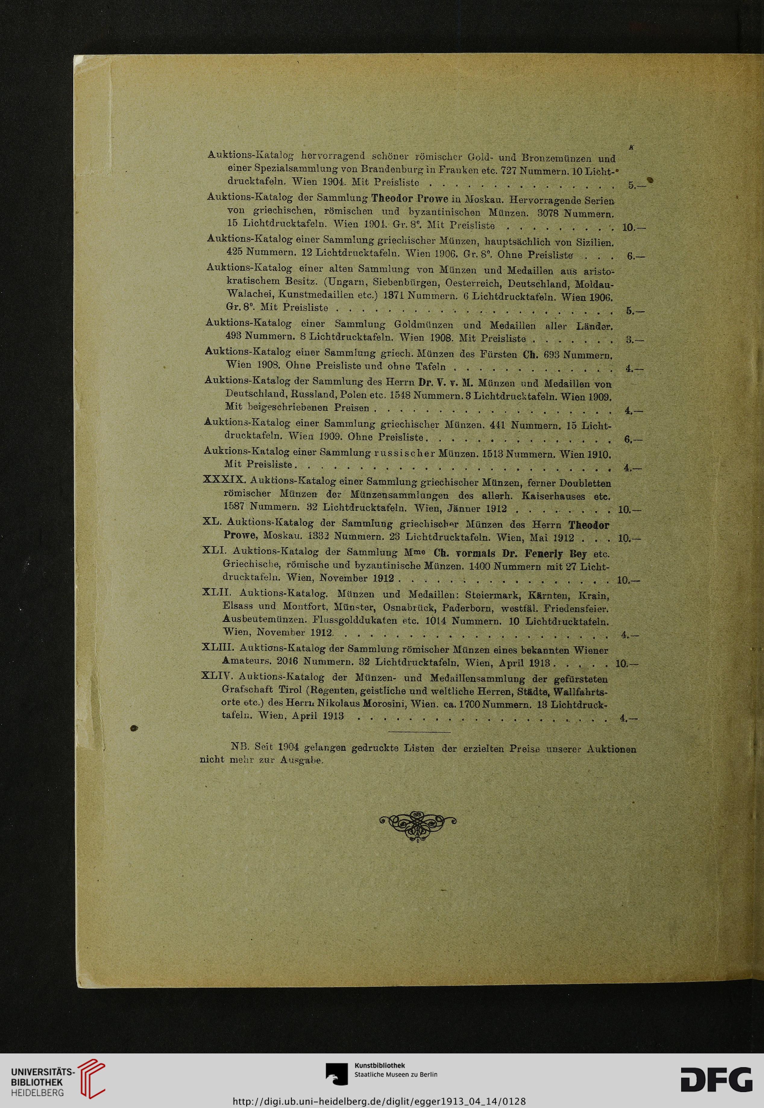 Brüder Egger Wien Hrsg Römische Münzen Sammlung Eines