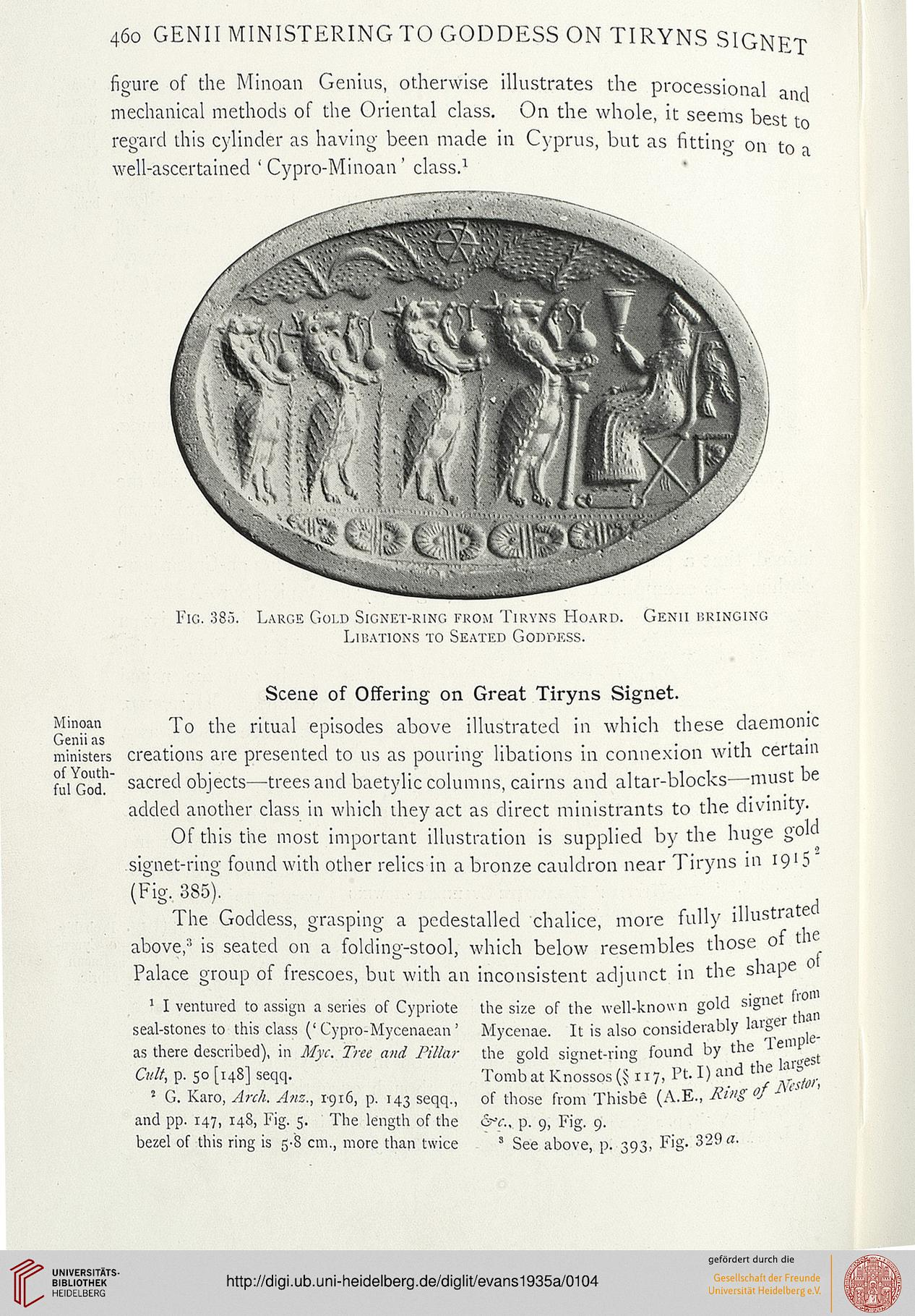 Evans, Arthur J : The Palace of Minos: a comparative account