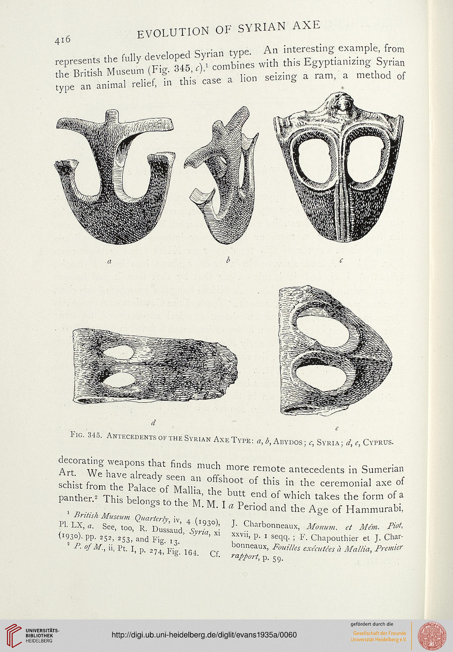 Evans, Arthur J.: The Palace of Minos: a comparative account of the ...
