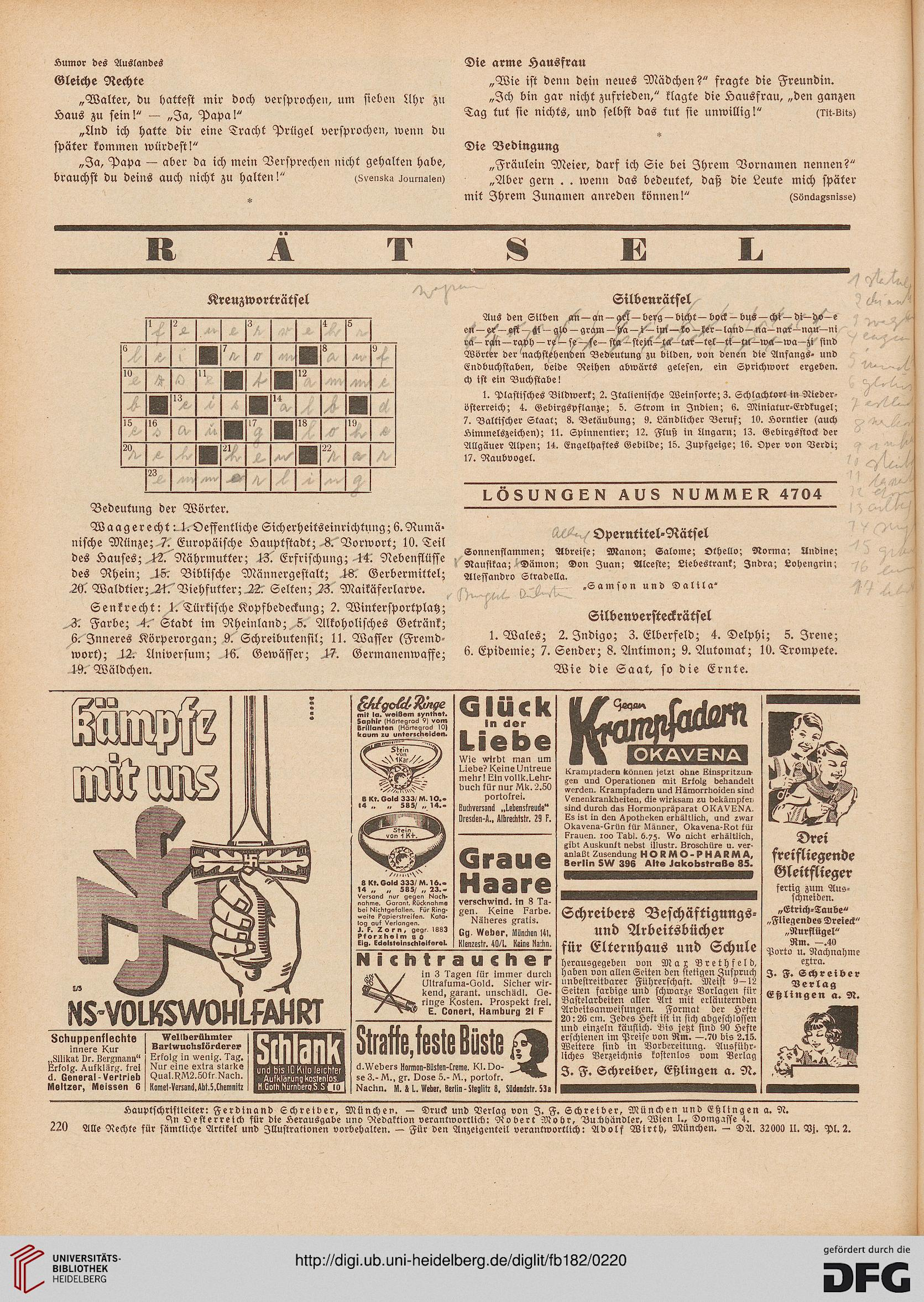 Fliegende Blätter (182.1935 (Nr. 4666-4691) = 91. Jahrg.)