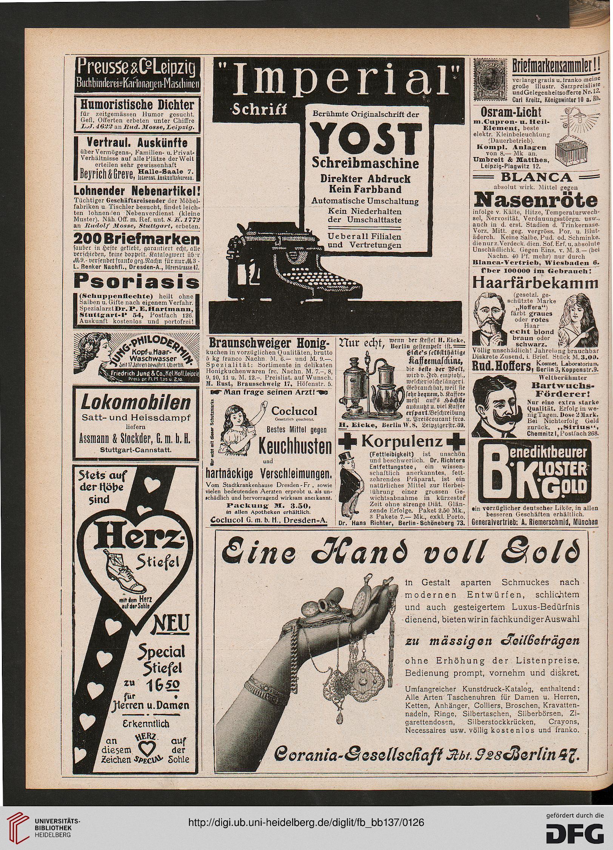 Beiblatt der Fliegenden Blätter (137.1912 (Nr. 3493-3518))
