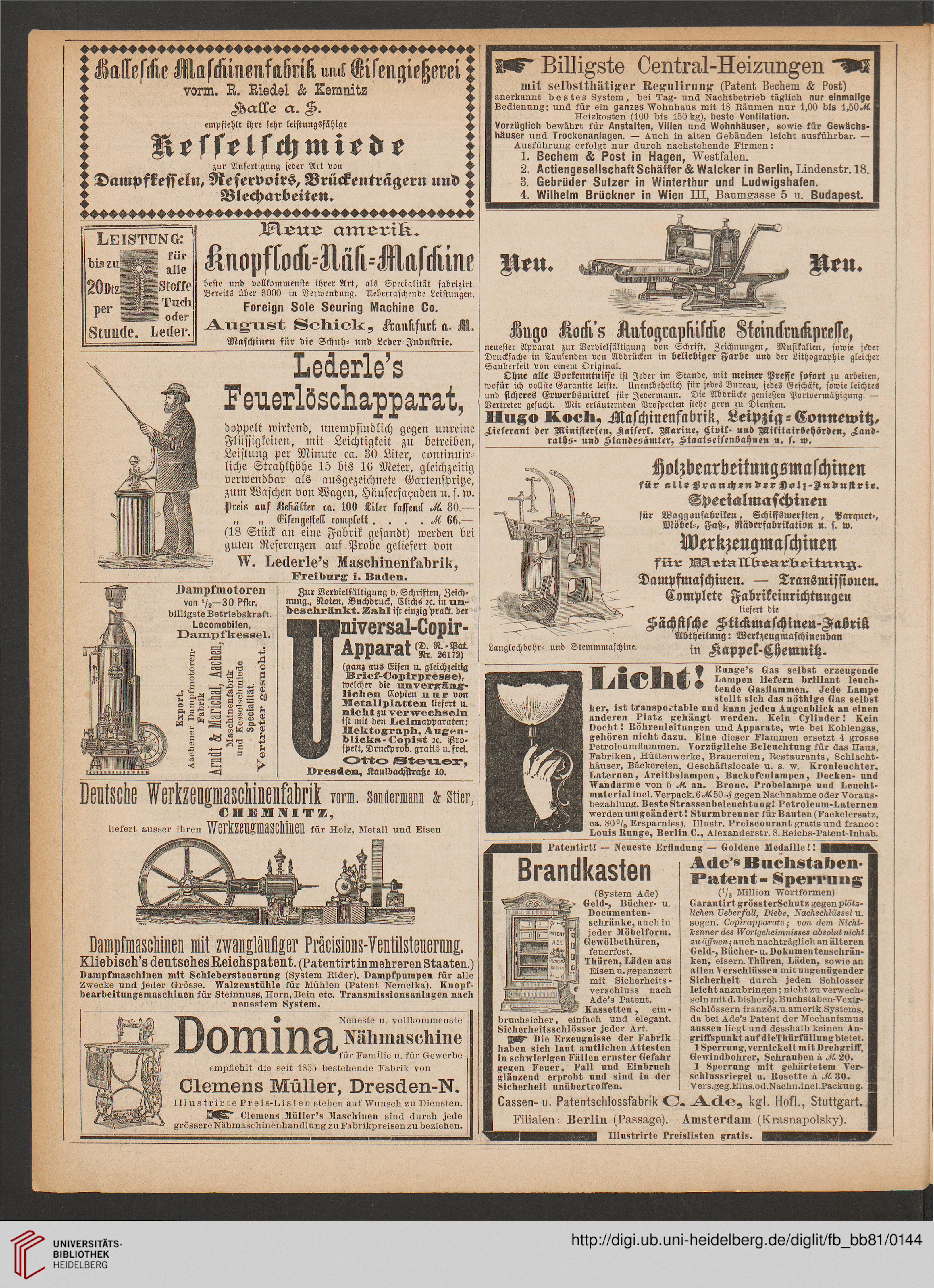 Beiblatt der Fliegenden Blätter (81.1884 (Nr. 2032-2057))