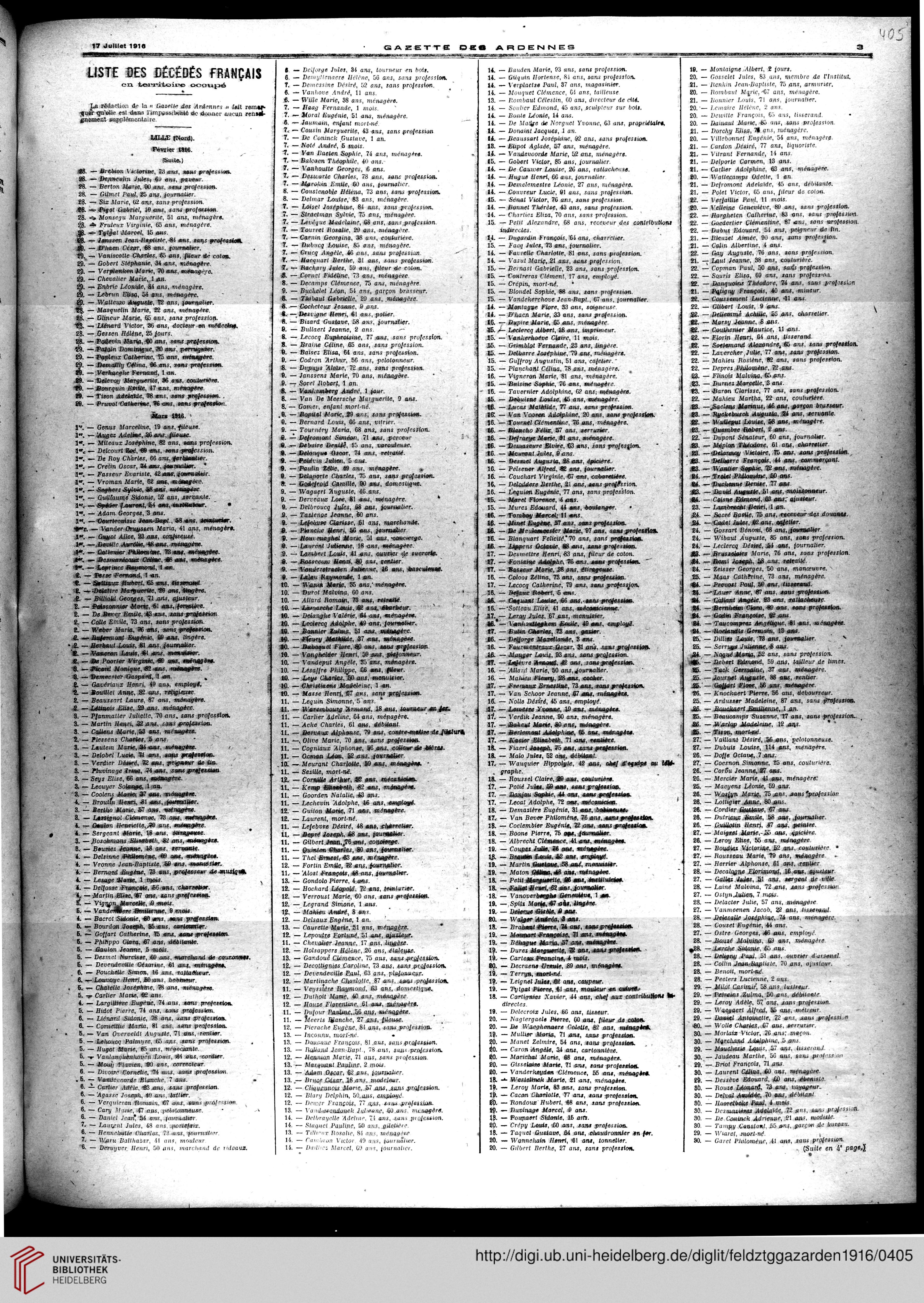 Ardennes Journal Des Occupés januar Gazette 1916 Pays xE5wH