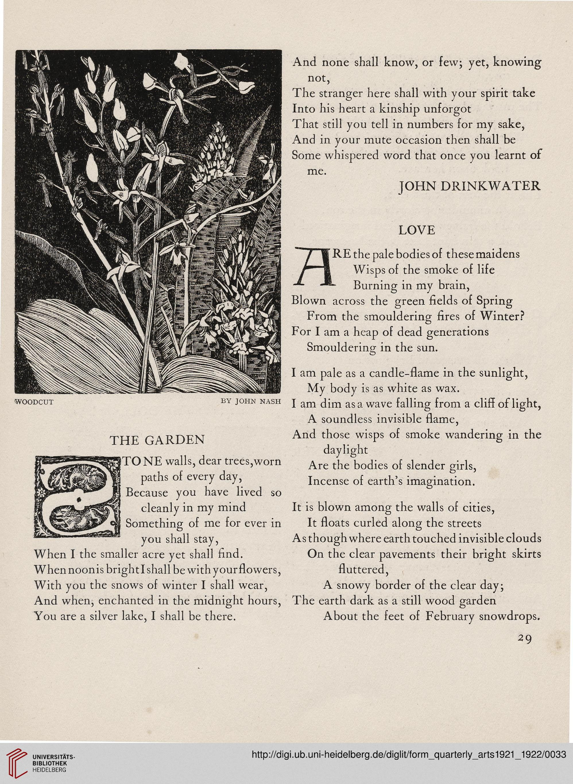 Form: a quarterly of the arts (N S  1 1921/1922)