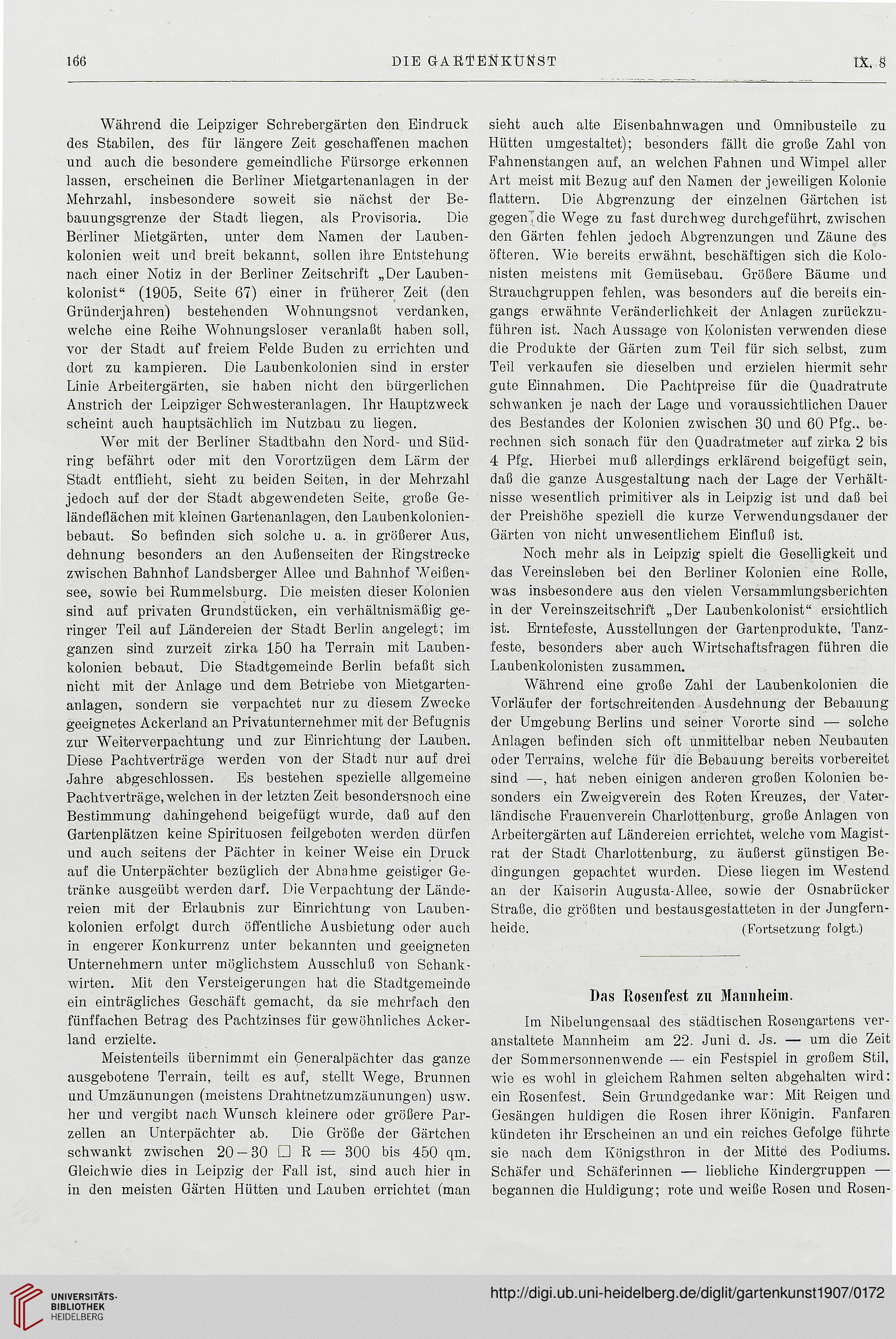 Die Gartenkunst (9.1907)