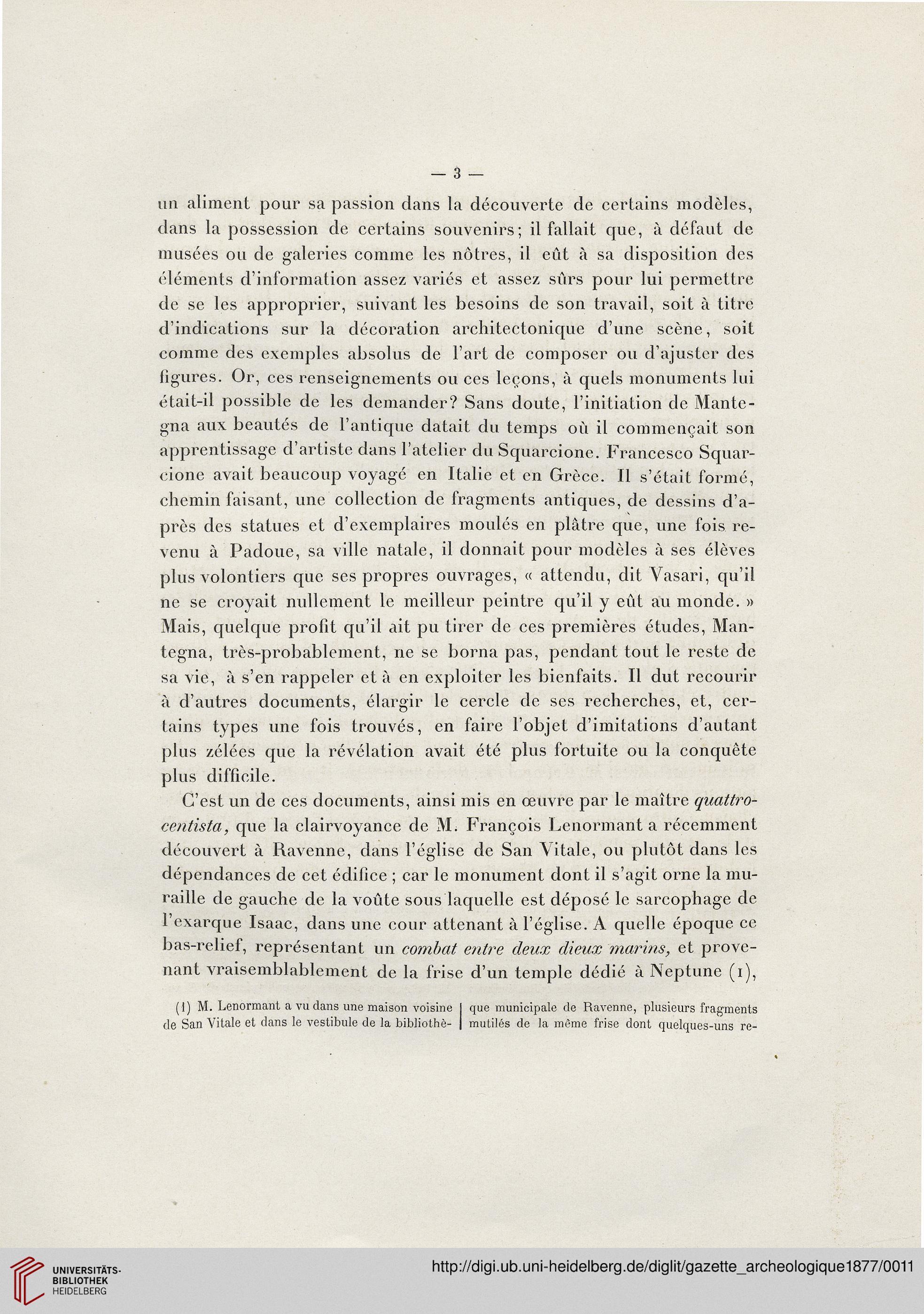 Gazette archéologique: revue des Musées Nationaux (3.1877)