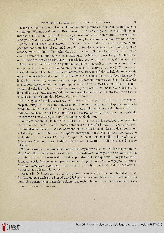 Gazette Archeologique Revue Des Musees Nationaux 121887