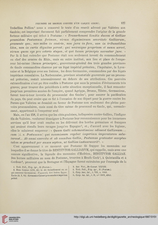 Gazette Archéologique Revue Des Musées Nationaux 121887