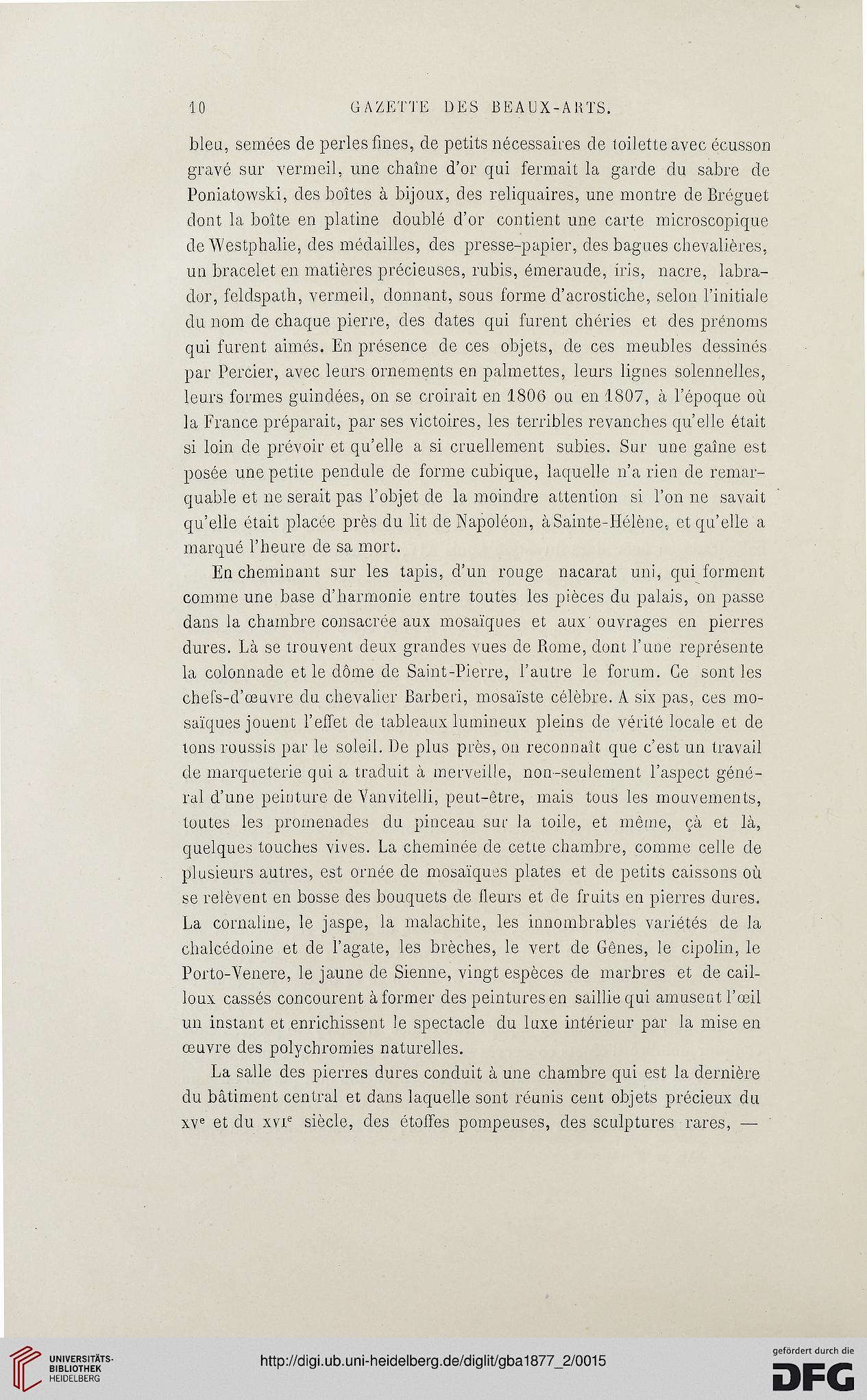 Gazette des beaux-arts: la doyenne des revues d\'art (2.Pér. 16.1877)