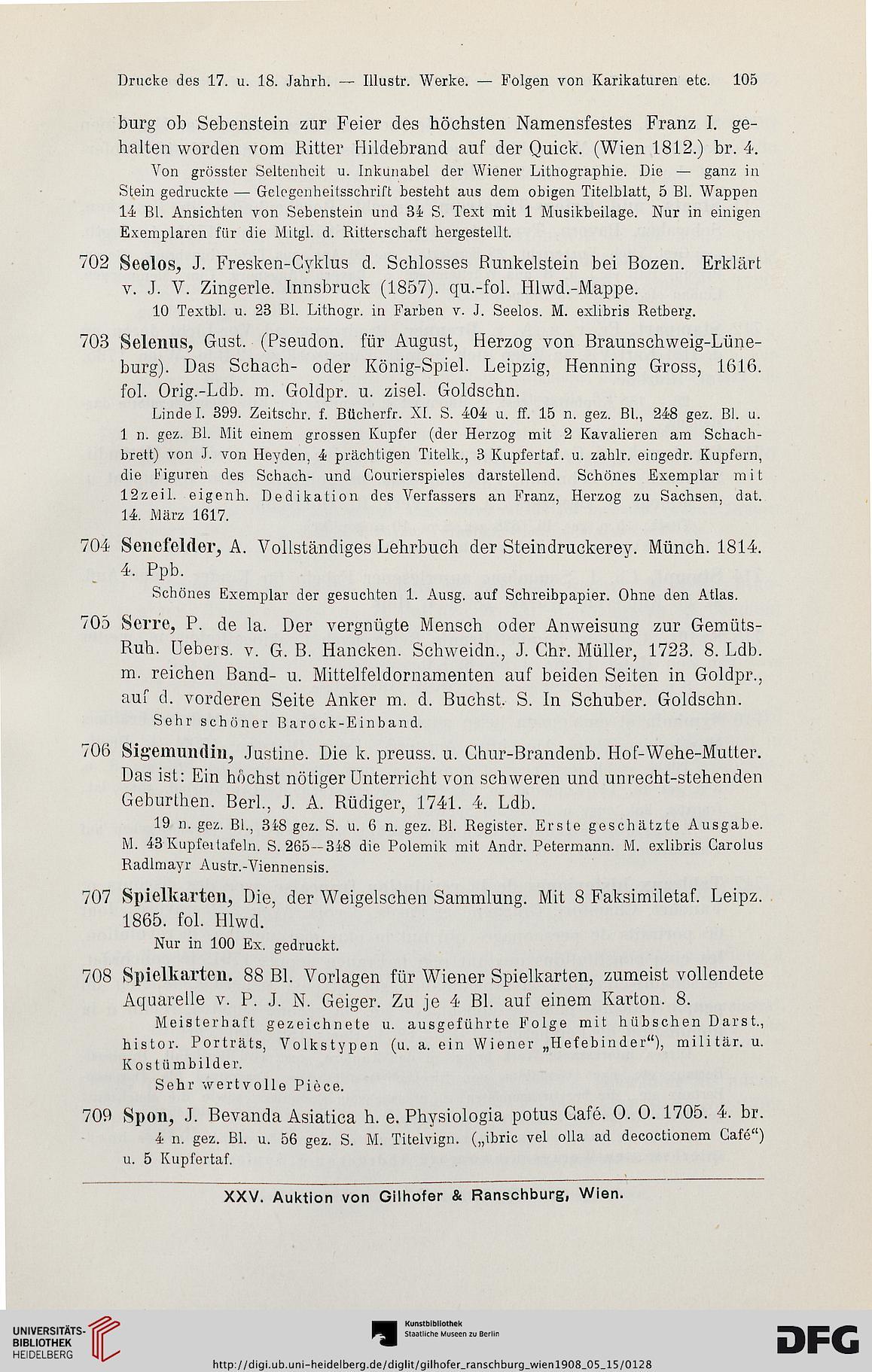 Gilhofer & Ranschburg <Wien> [Hrsg.]: Katalog der Büchersammlung Z v ...