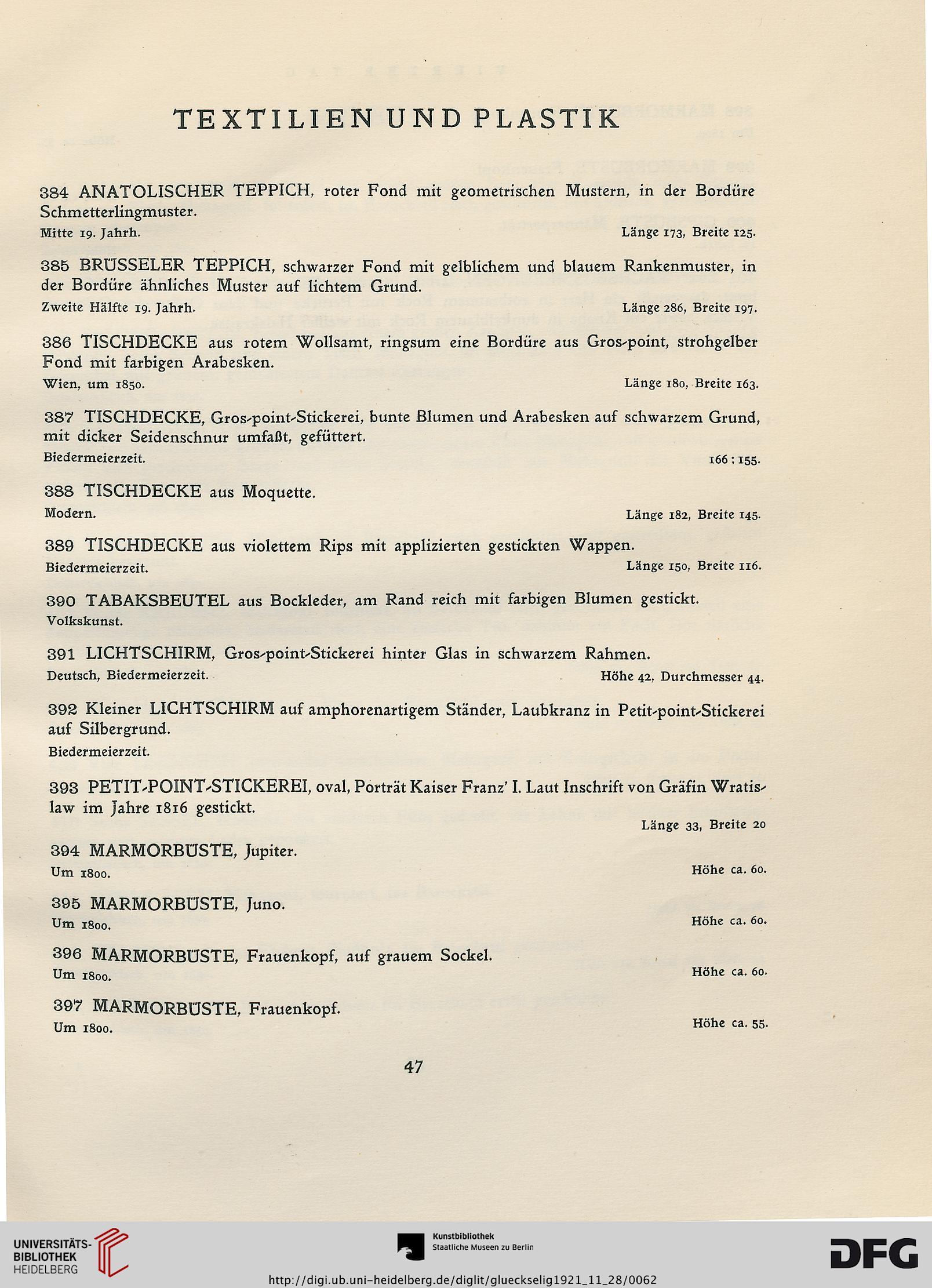Auktionshaus für Alterthümer Glückselig & Wärndorfer <Wien> [Hrsg ...