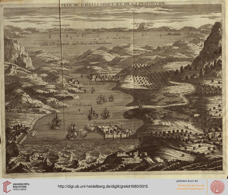 Vue de l'Hellespont et de la Propontide