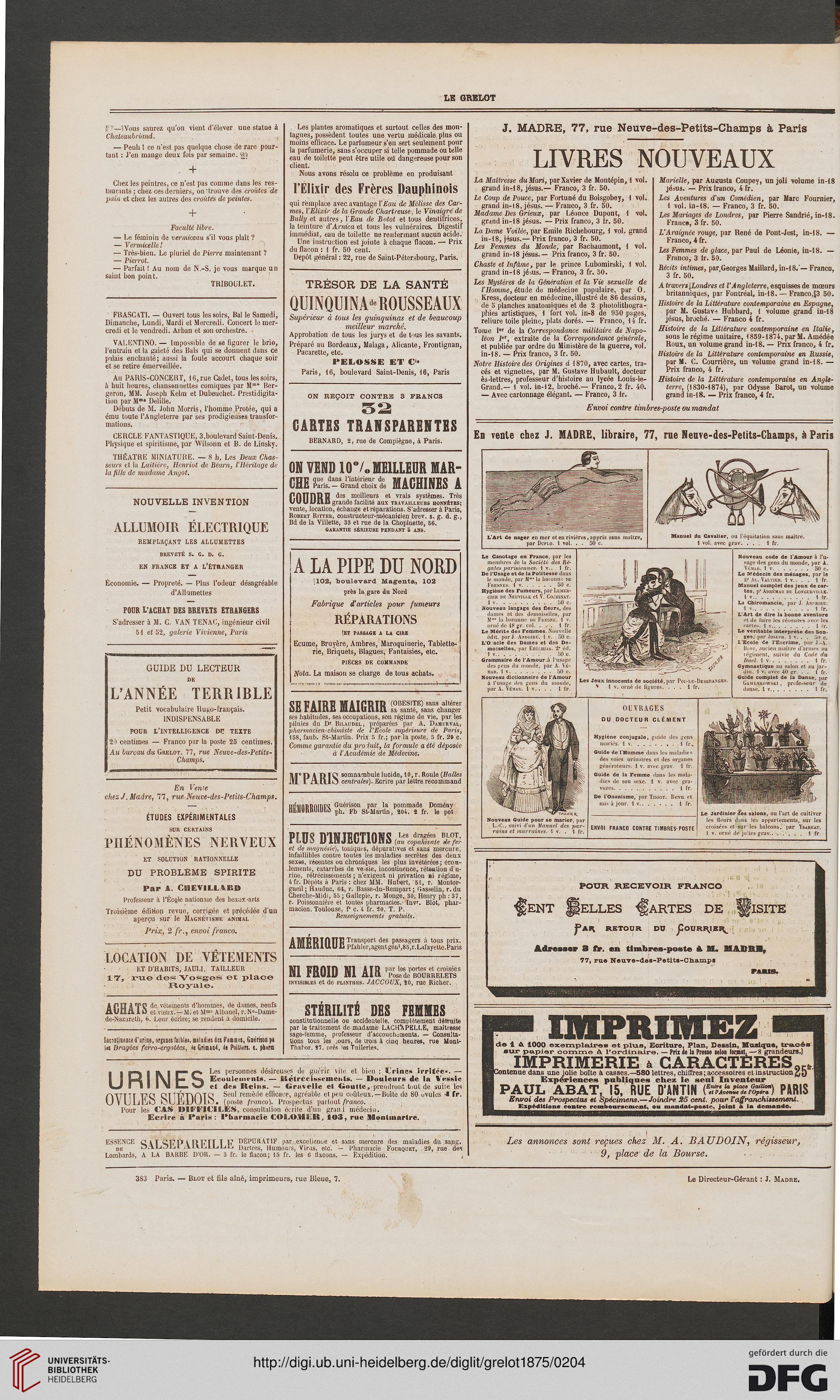 Le Grelot journal illustré politique et satirique 5 1875