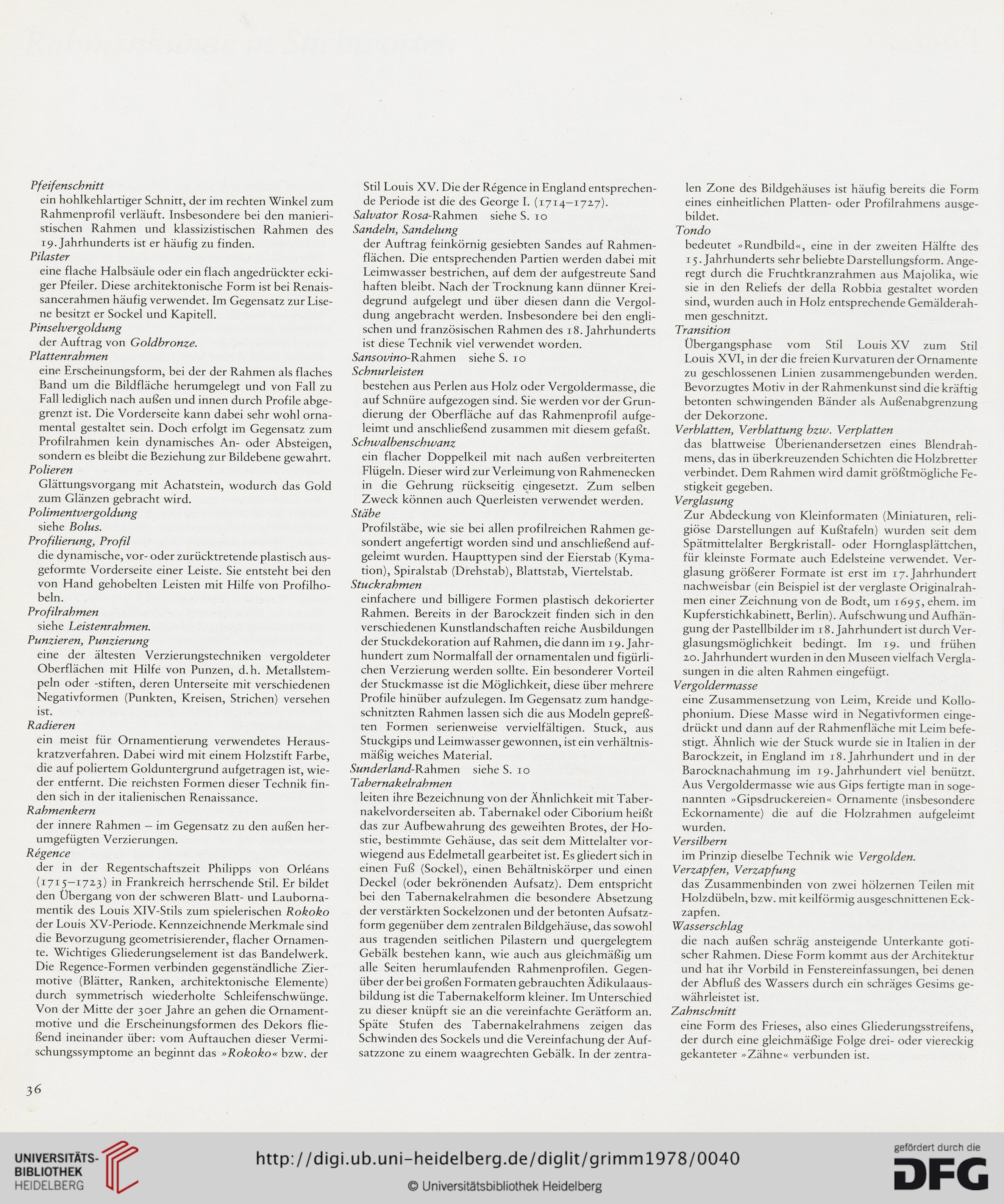 Grimm, Claus <Prof., Dr.>: Alte Bilderrahmen: Epochen, Typen ...