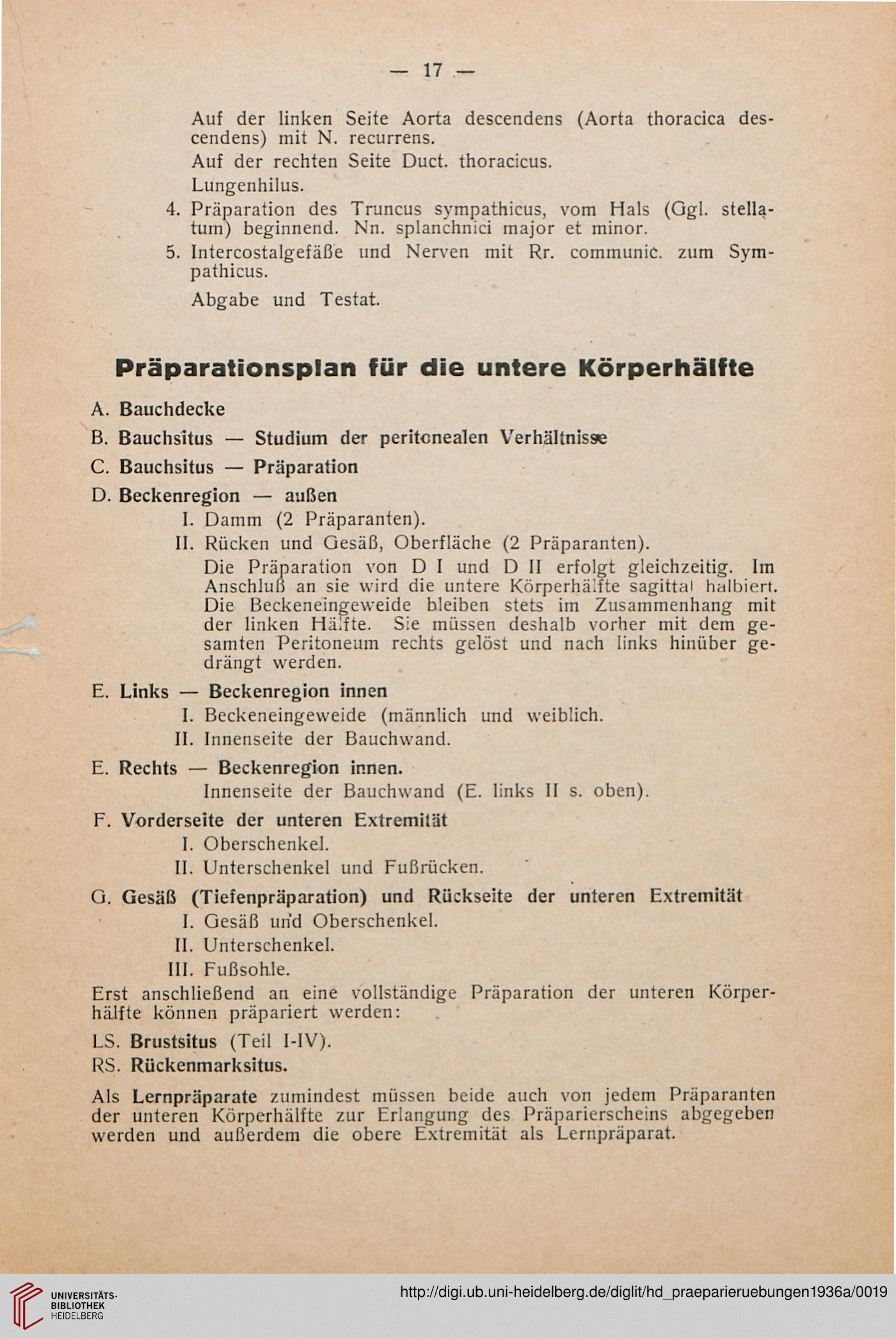 Anleitung zu den Präparierübungen für Fortgeschrittene am ...