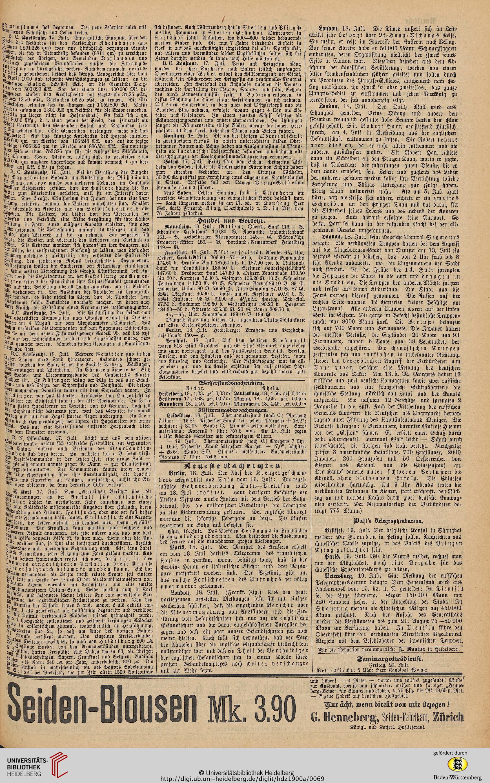 Heidelberger Zeitung (1900 (Juli bis Dezember))