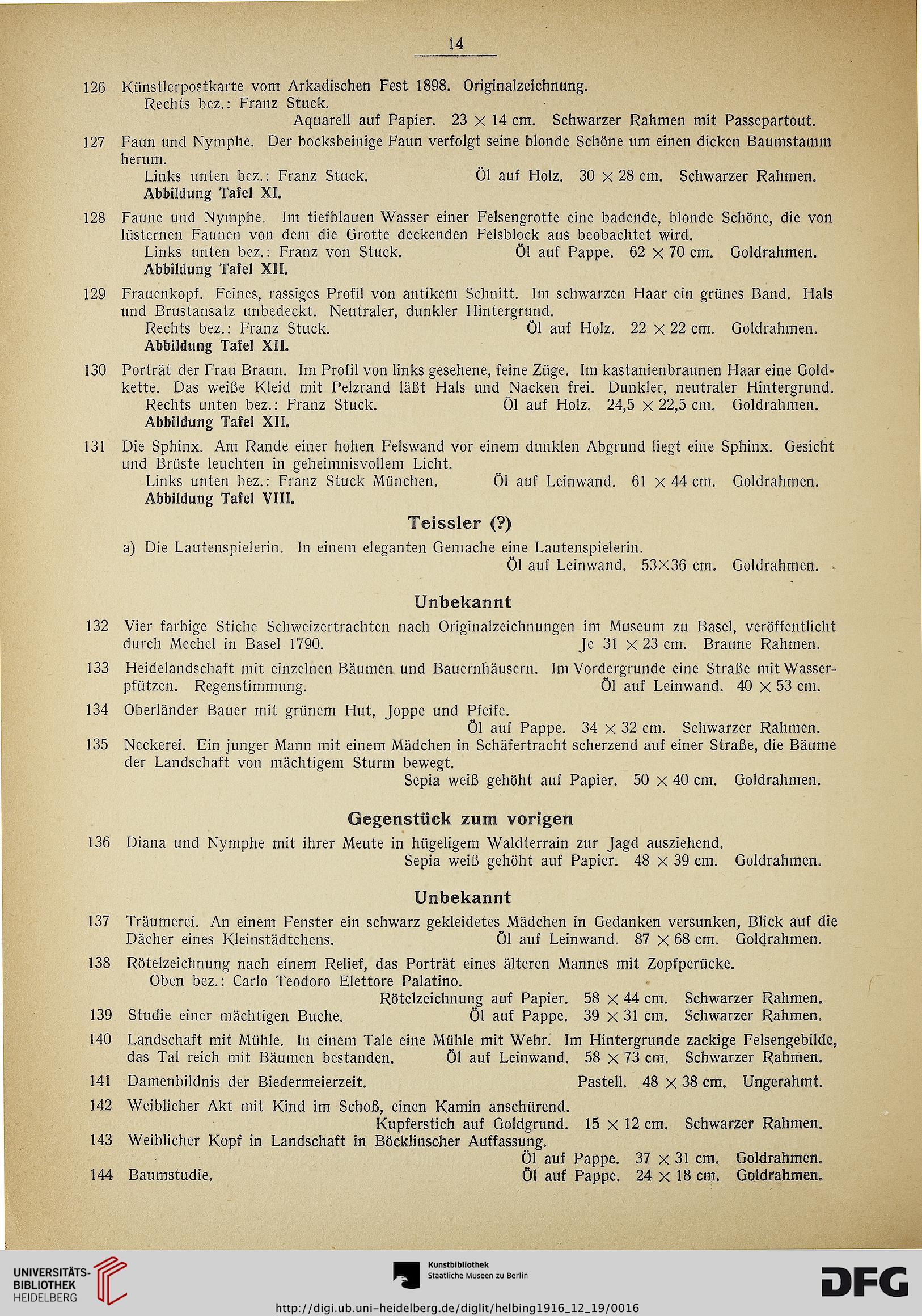 Hugo Helbing <München> [Hrsg.]: Ölgemälde moderner Meister: Sammlung ...