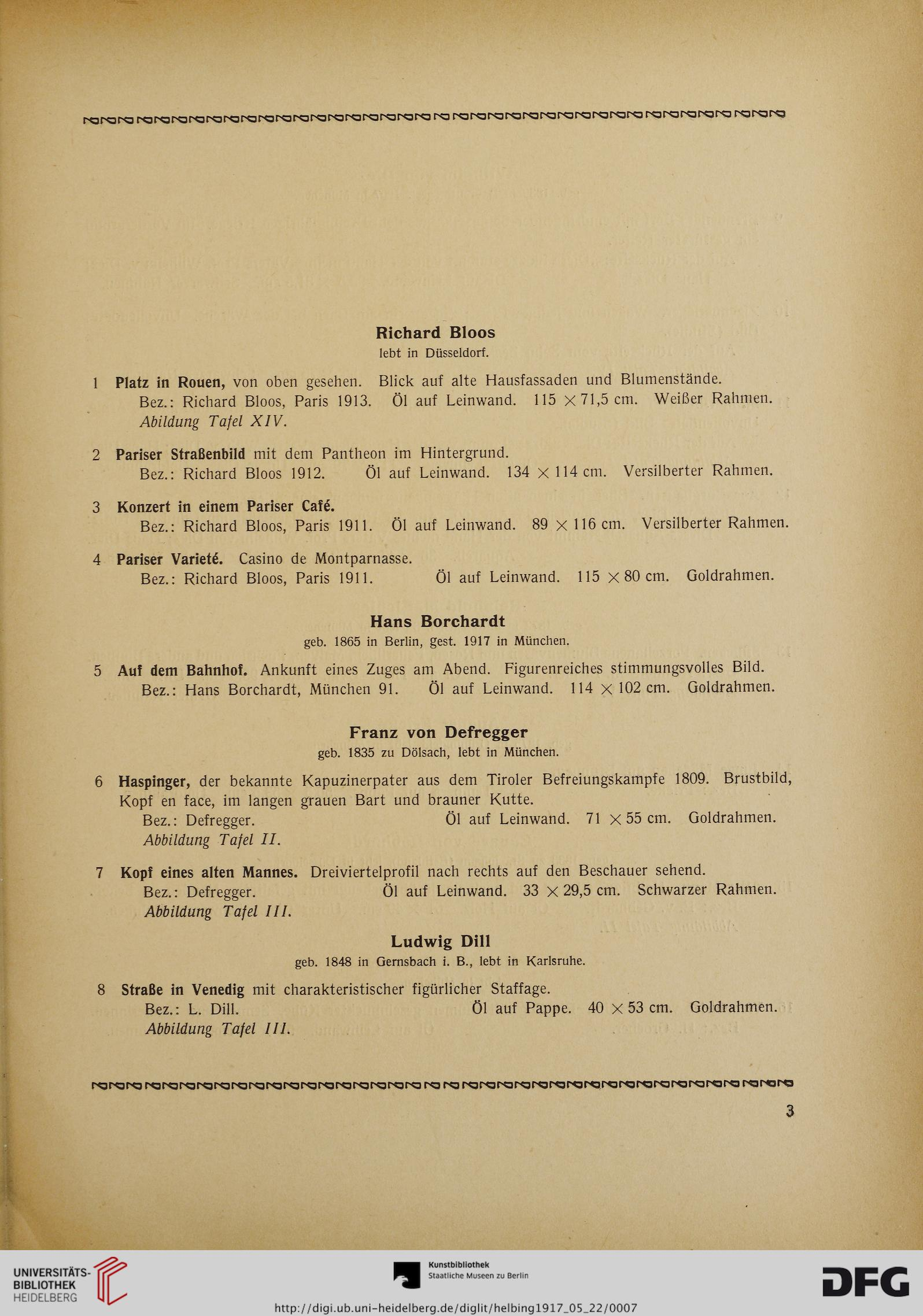 Hugo Helbing <München> [Hrsg.]: Ölgemälde moderner Meister aus ...