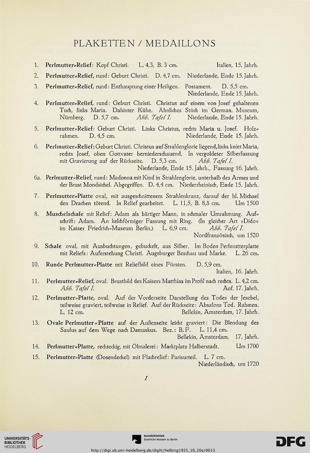 Hugo Helbing <Frankfurt, Main> [Hrsg.]: Sammlung Edgar Bolz, Anhang ...